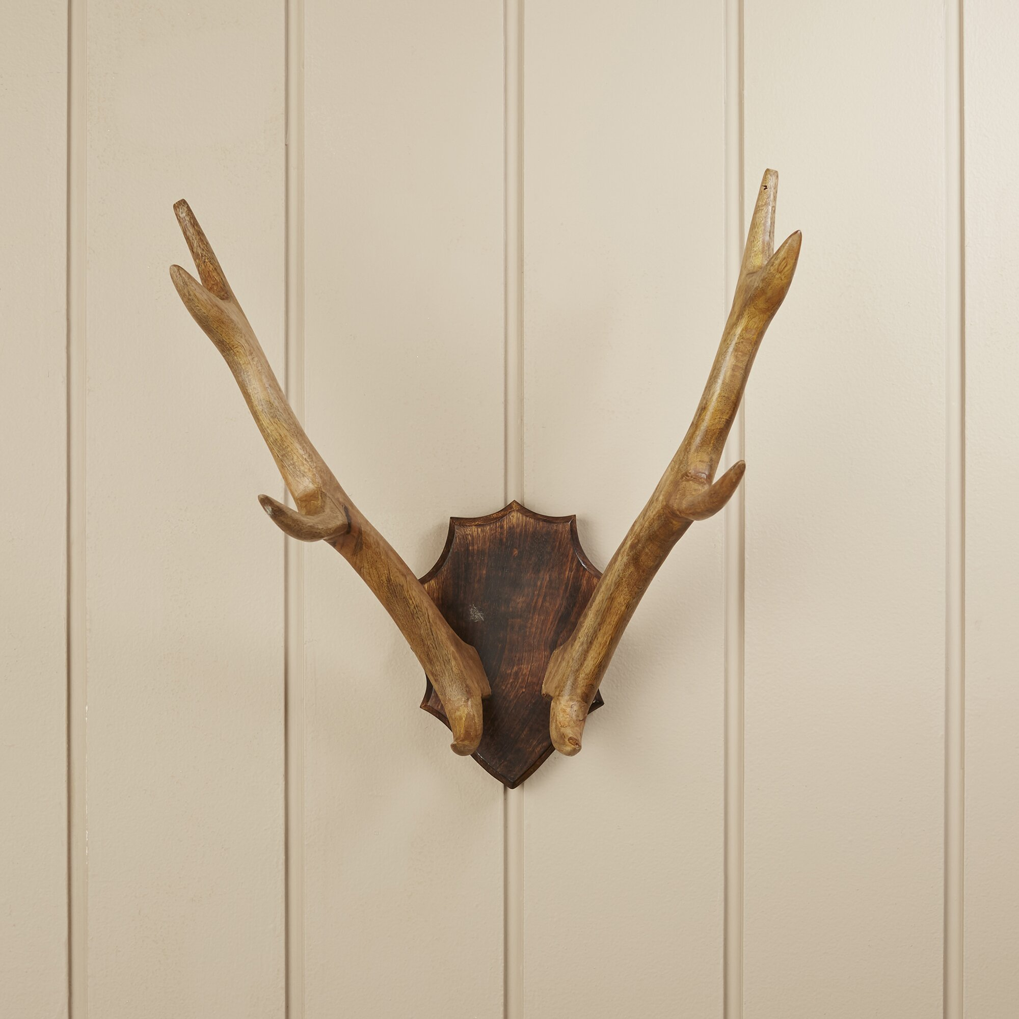 Birch Laneu0026trade; Wood Antler Mount Wall ...