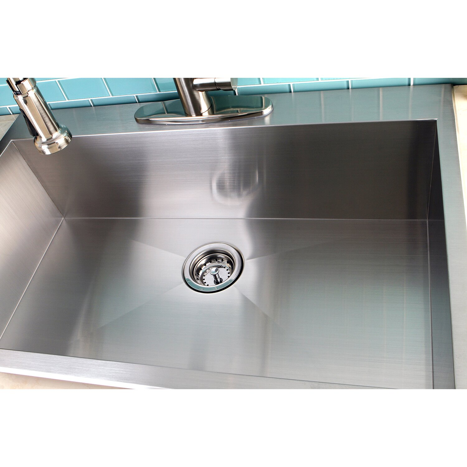 ordinary Single Basin Kitchen Sink 33 X 22 #7: ... Bowl Kitchen Sink. Kingston Brass Uptowne 33u0026quot; x 22u0026quot;  Self-Rimming Single ...