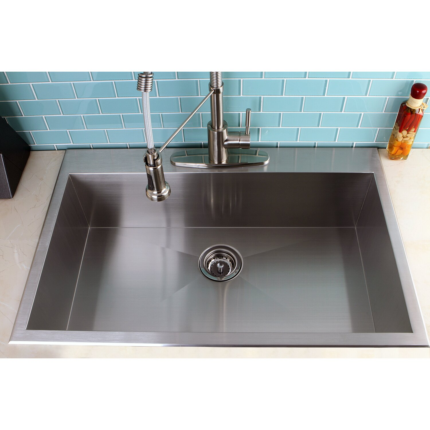 Single Basin Kitchen Sink 33 X 22 - 3d House Drawing •