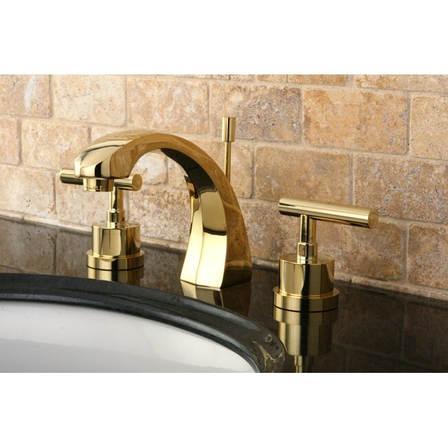 Kingston Brass Manhattan Double Handle Widespread Bathroom Faucet with Brass  Pop up. Kingston Brass Manhattan Double Handle Widespread Bathroom Faucet
