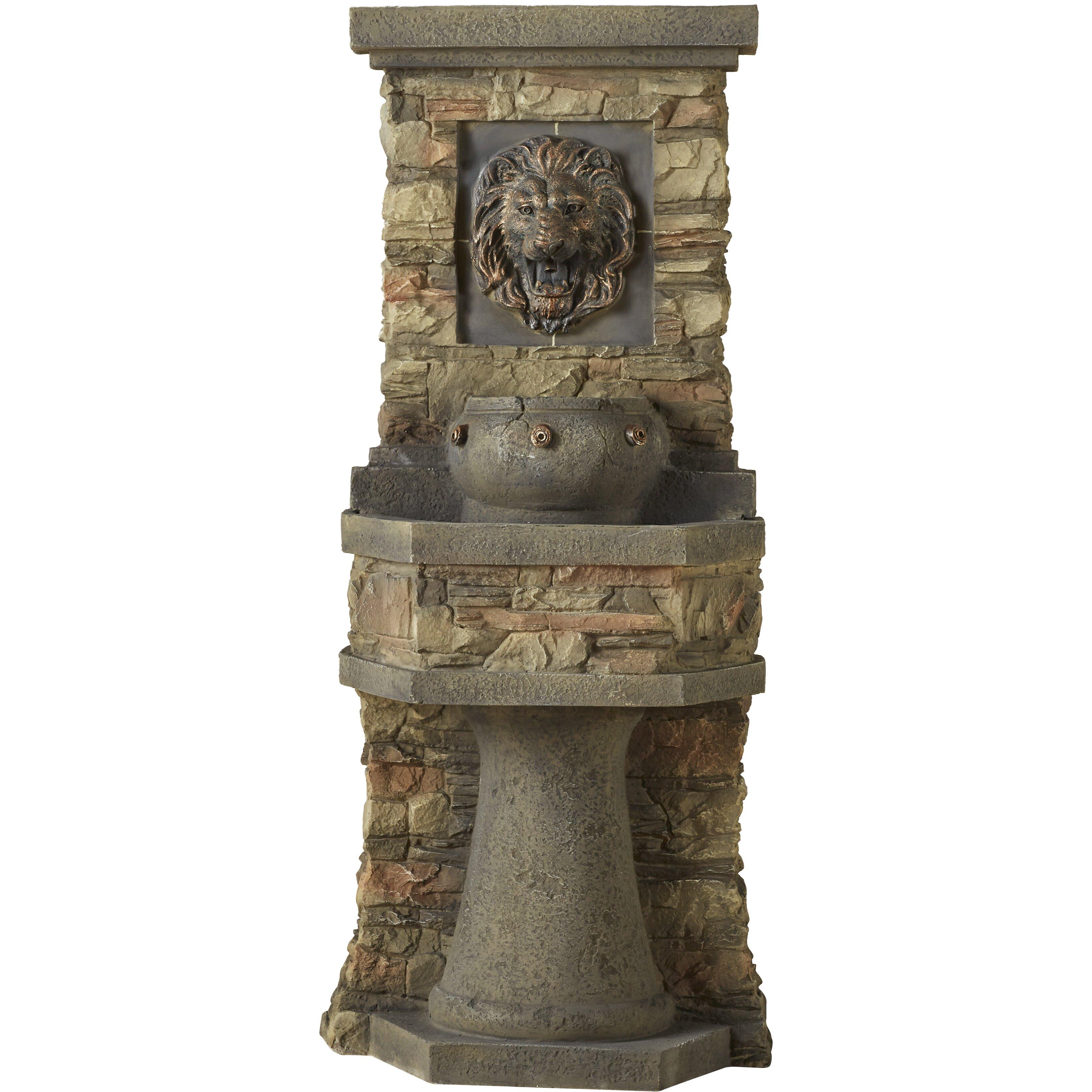 Water fountains calgary - Jeco Inc Resin Fiberglass Lion Head Outdoor Indoor Water Fountain