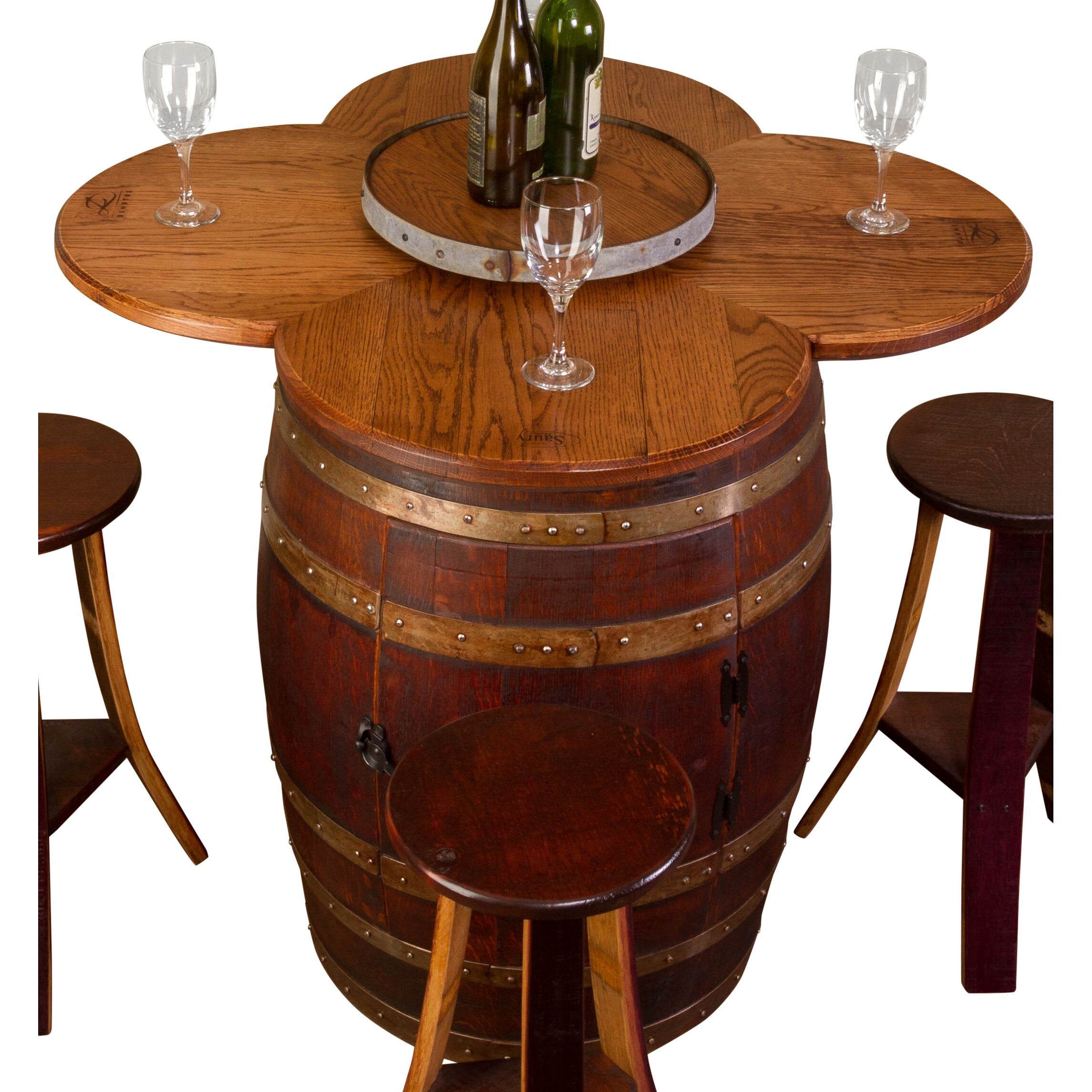 Wine Barrel Kitchen Table Napa East Collection Wine Barrel 6 Piece Dining Set Reviews