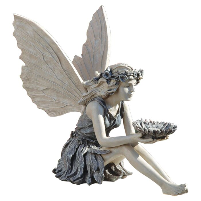 Design Toscano Sunflower Fairy Garden Statue Reviews Wayfaircouk