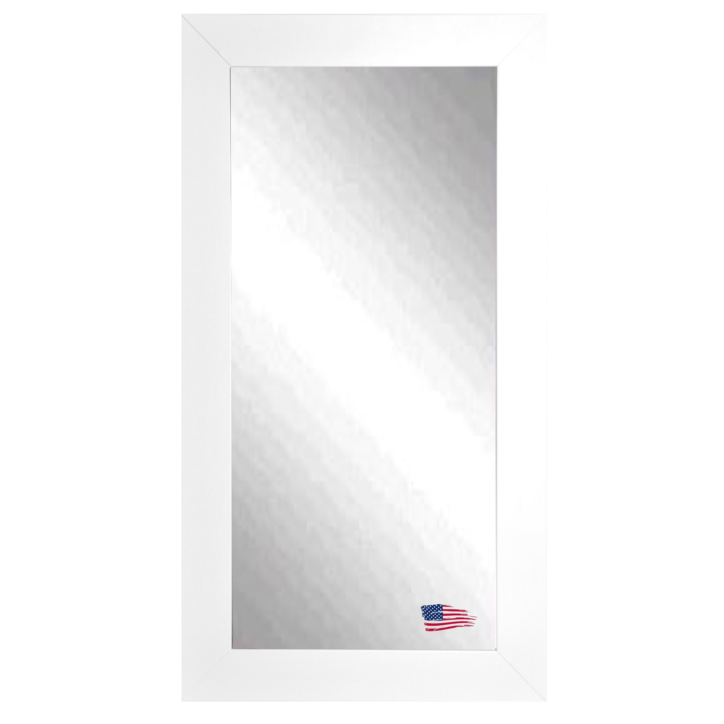 Rayne mirrors satin white wide tall wall mirror reviews for White tall wall mirror