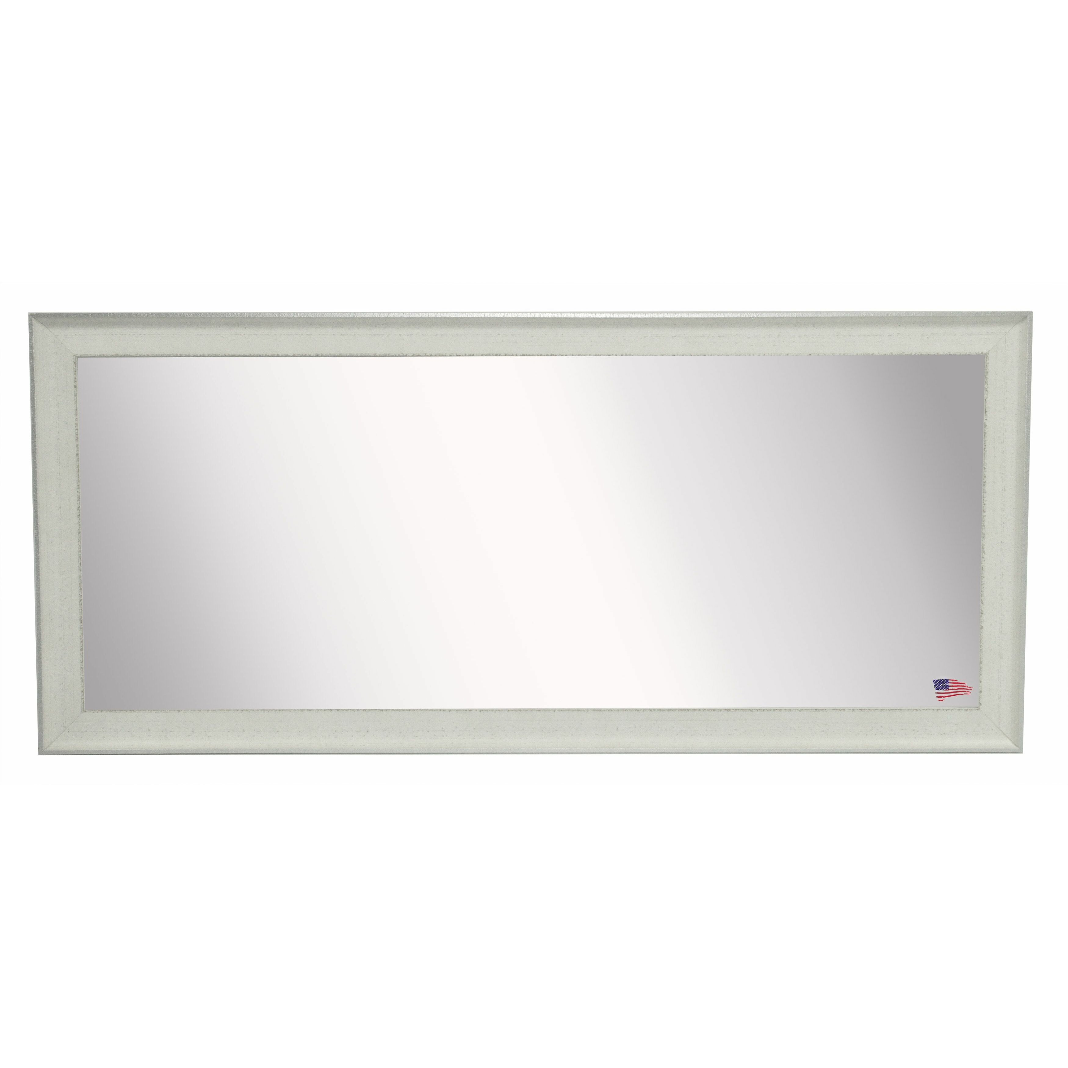 Rayne mirrors ava extra large vintage white mirror wayfair for Large white mirror