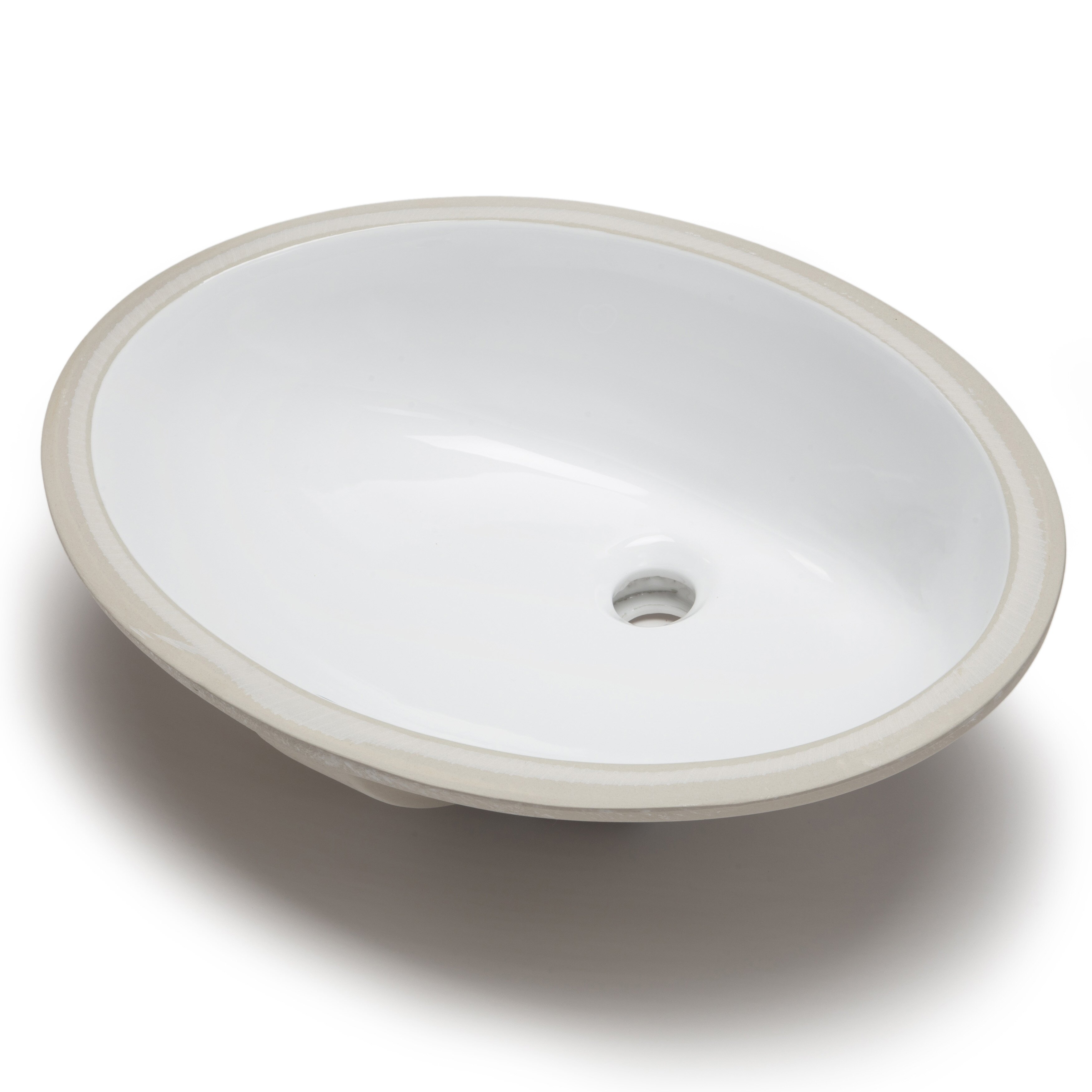 Hahn Ceramic Bowl Oval Undermount Bathroom Sink With Overflow Wayfair