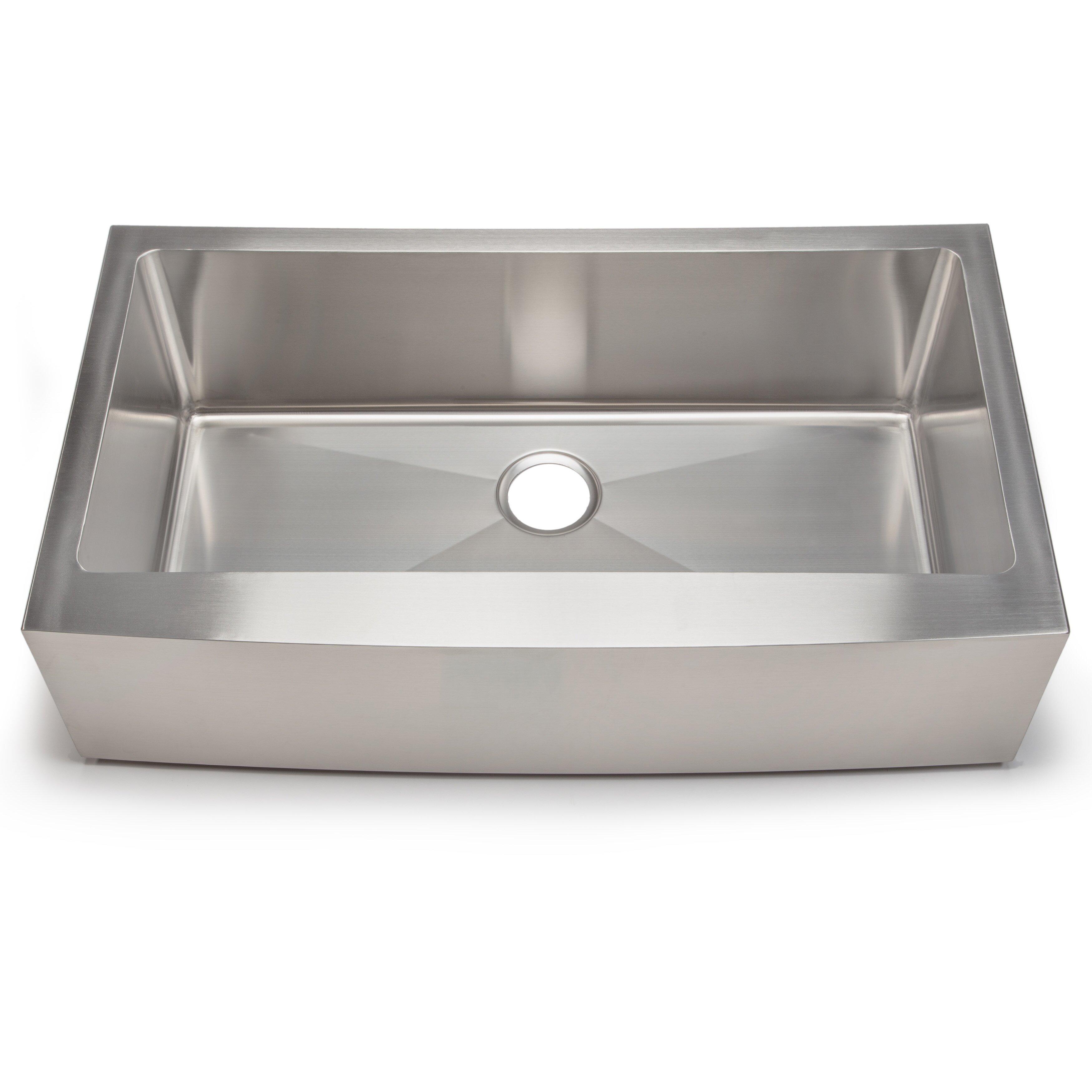 Single bowl vs double bowl kitchen sink - Hahn Chef Series 35 88 Quot X 20 75 Quot Single Bowl Farmhouse Kitchen Sink