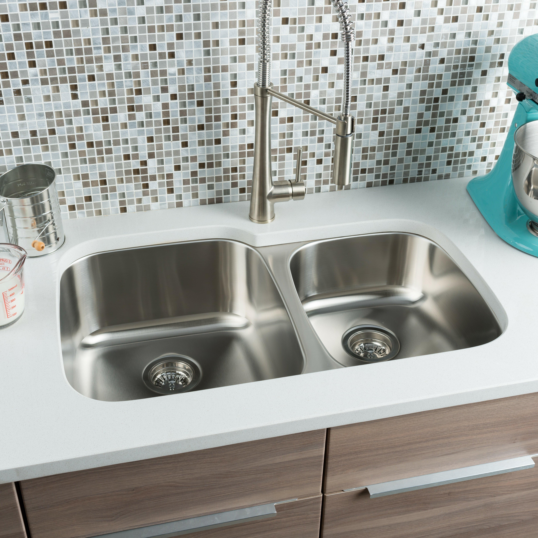 Kitchen Sinks l c O~Hahn hahn kitchen sinks Classic Chef 32 20 63 Double Bowl Undermount Kitchen Sink