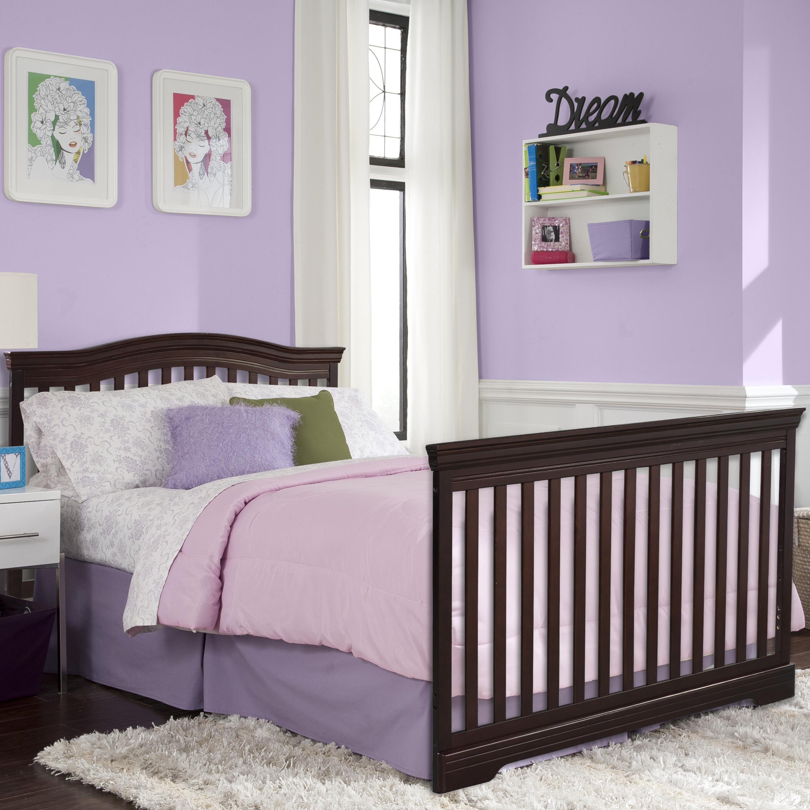 Crib heights for babies - Broyhill Kids Bowen 4 In 1 Heights Convertible Crib