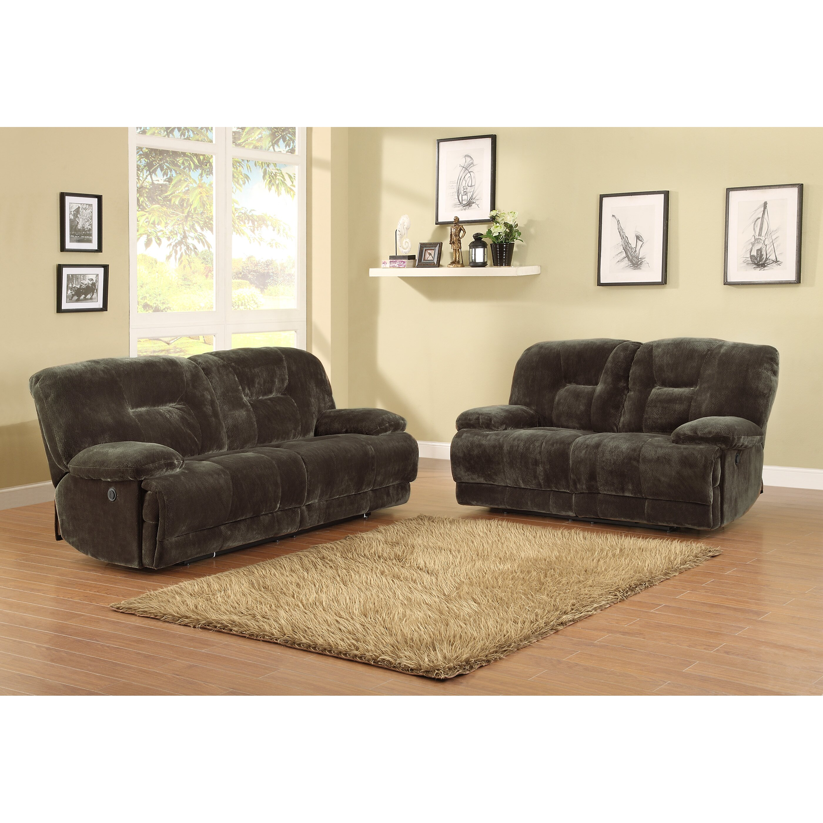 Woodhaven Living Room Furniture Woodhaven Hill Geoffrey Double Reclining Sofa Reviews Wayfair