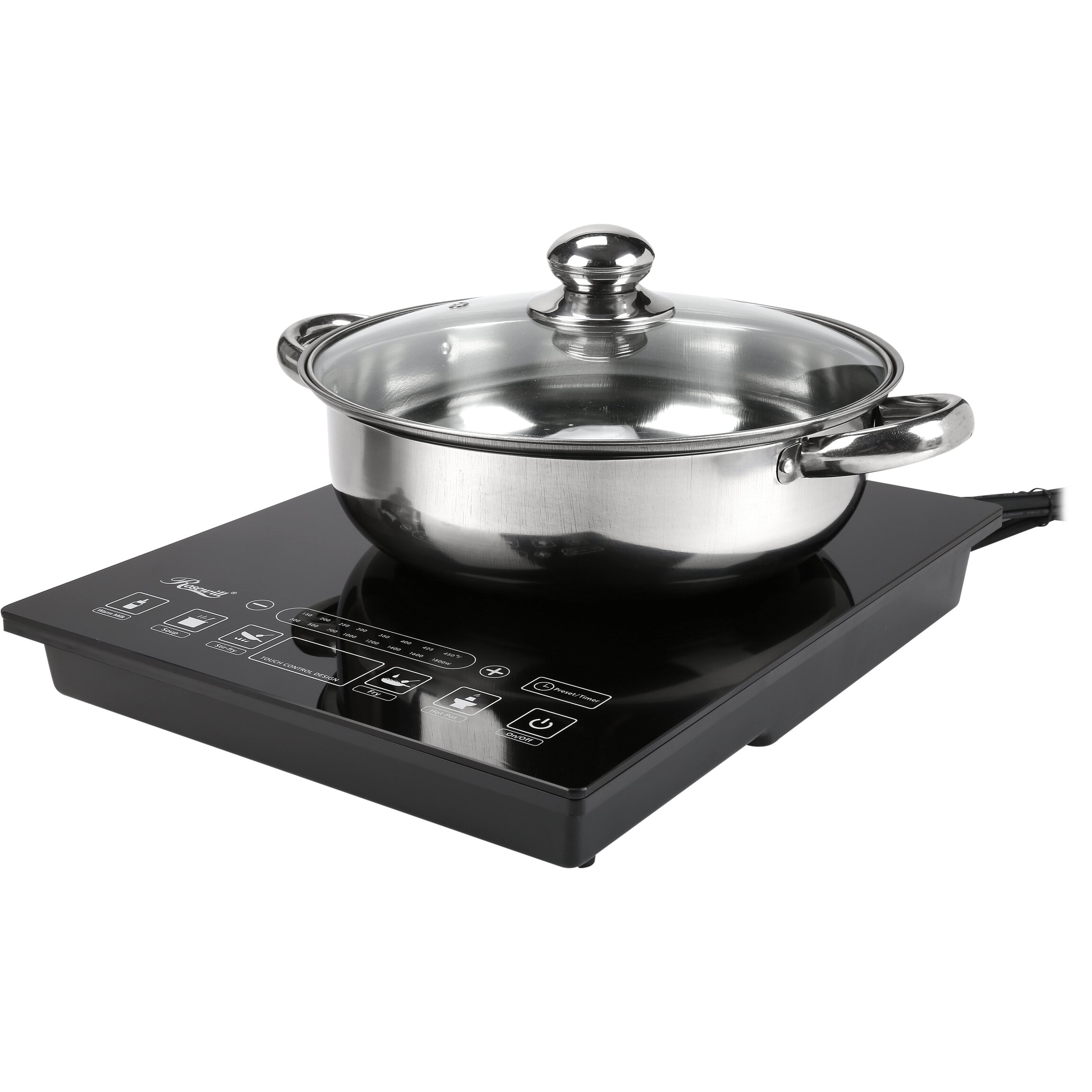 "Rosewill 11.73"" Electric Induction Cooktop With 1 Burner"