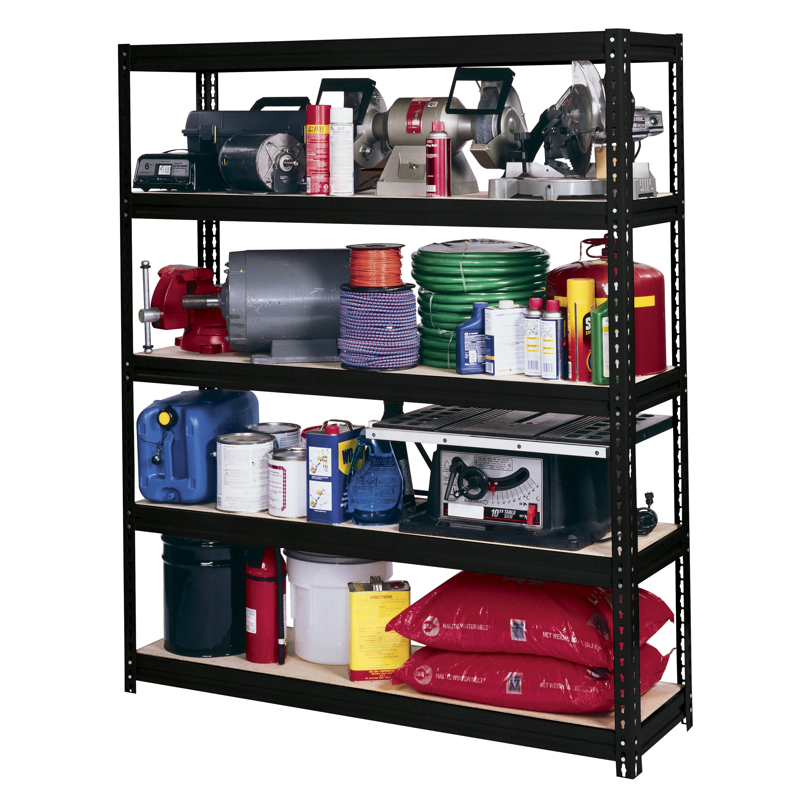 Edsal 5 shelf heavy duty steel shelving - Edsal Sandusky Modular Ultra Rack 72 Quot H 5 Shelf Shelving Unit