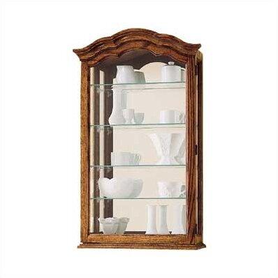 howard miller vancouver ii wall mounted curio cabinet. Black Bedroom Furniture Sets. Home Design Ideas