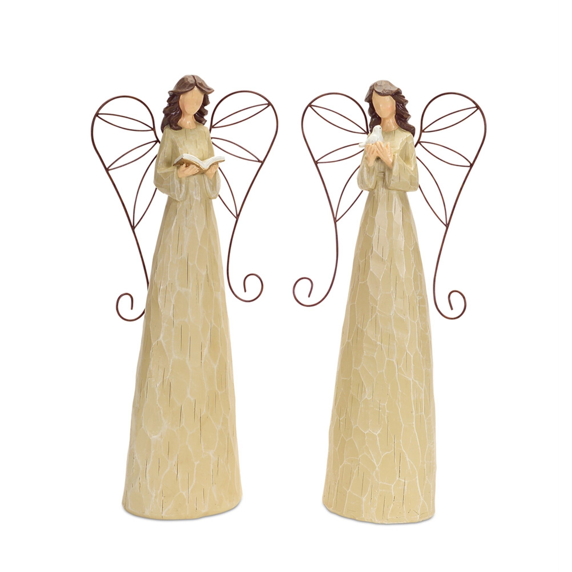 Melrose Intl Garden Angels 2 Piece Statue Set Wayfair