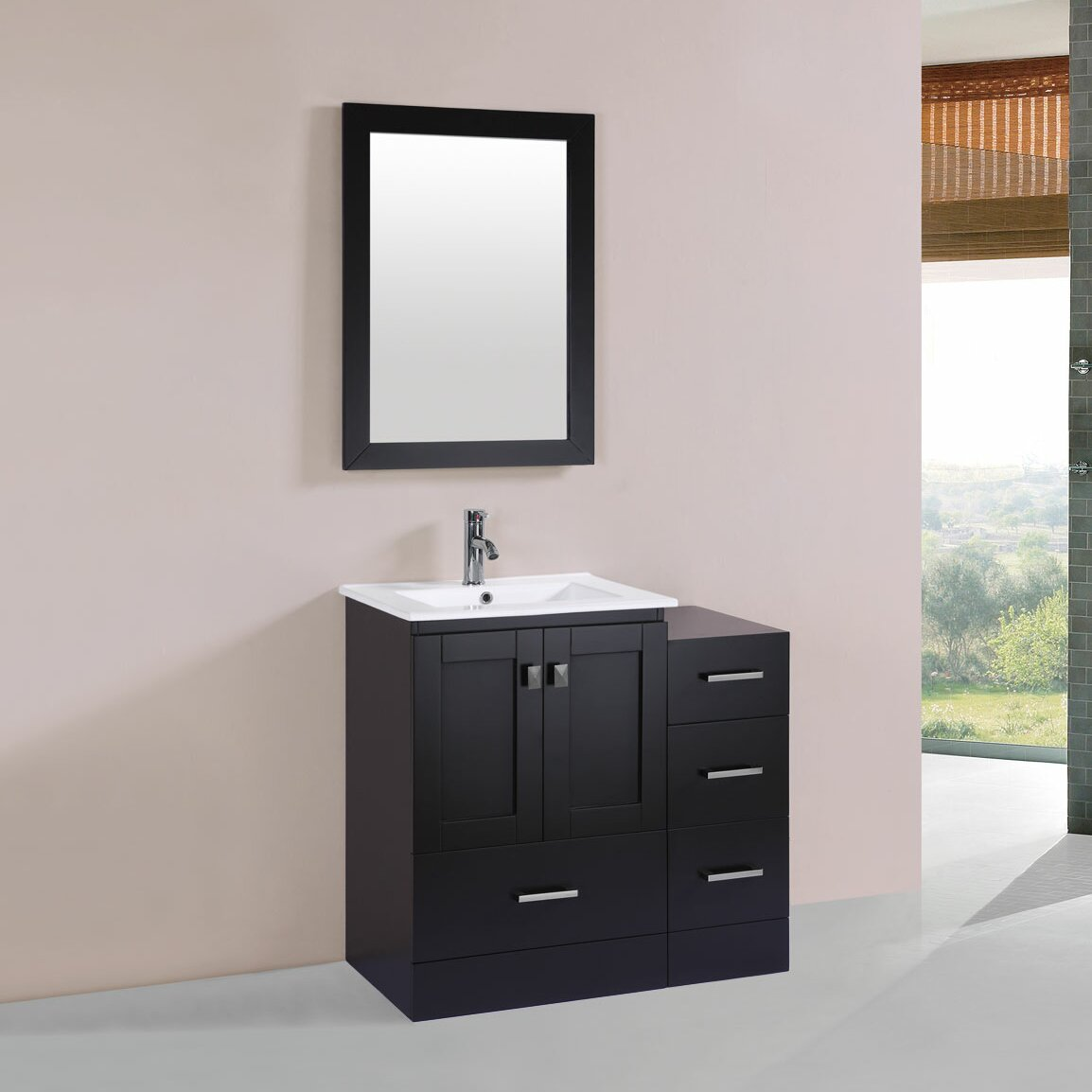 Pacificcollection Redondo 36 Single Modern Bathroom Side Cabinet Vanity Set Reviews