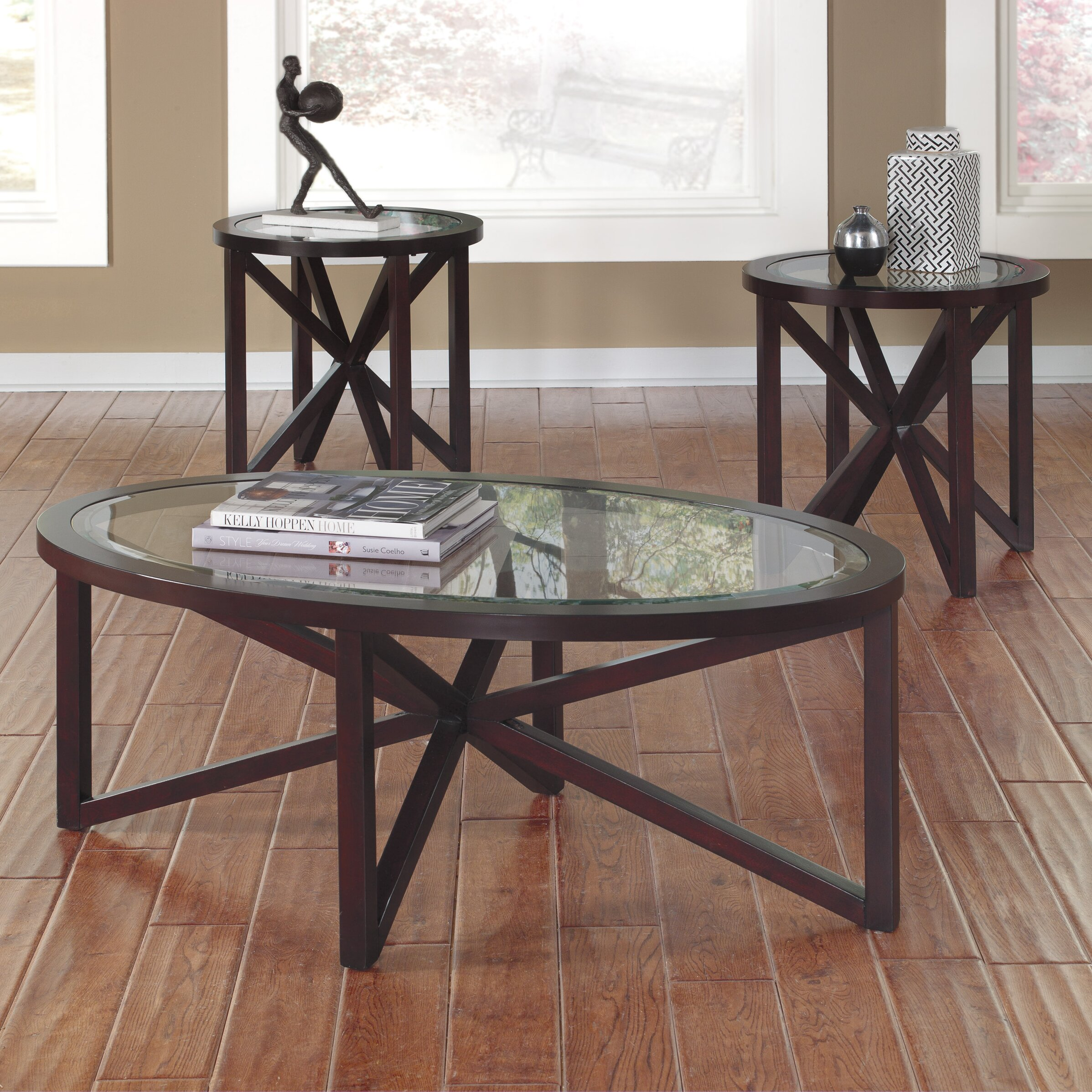 Signature Design By Ashley Sleffine 3 Piece Coffee Table Set Reviews