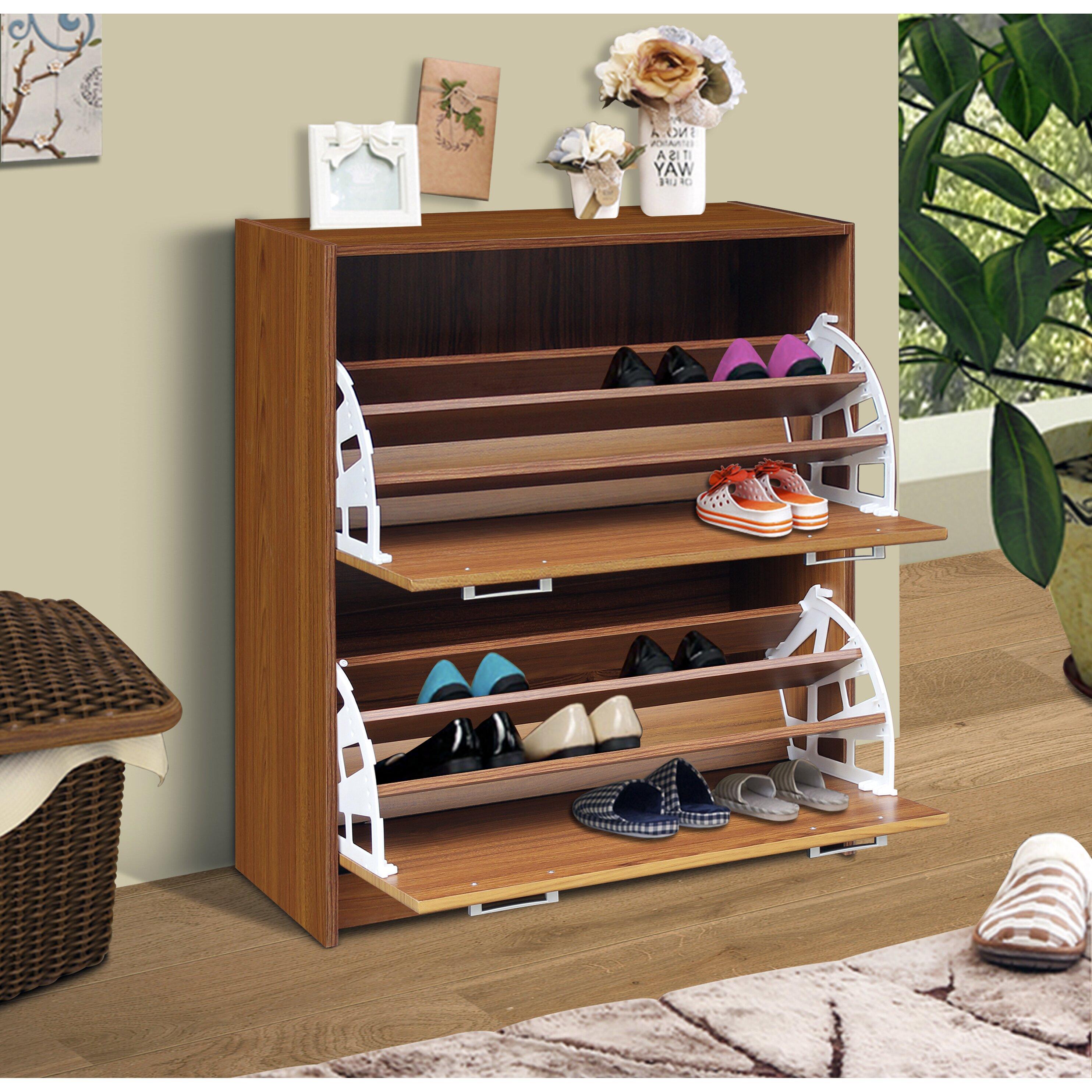 4d concepts double 24 pair shoe storage cabinet reviews wayf