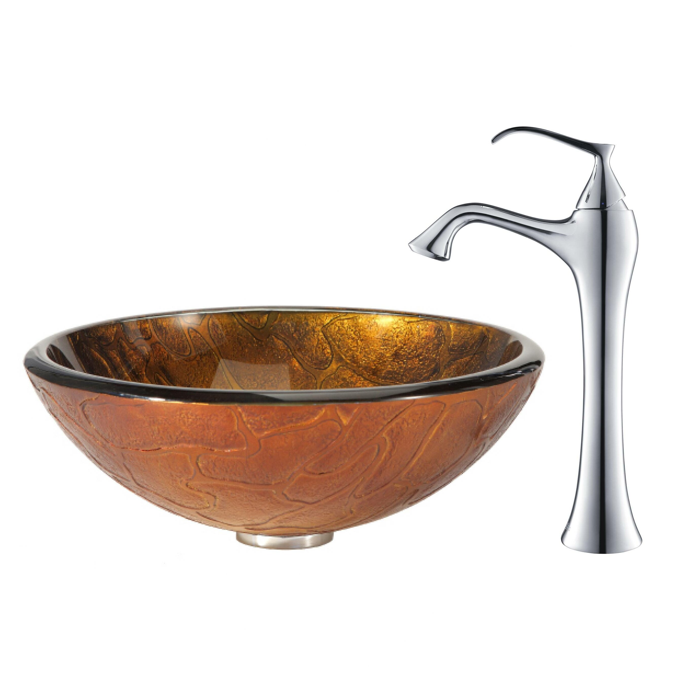 Kraus Triton Vessel Sink with Ventus Faucet & Reviews Wayfair