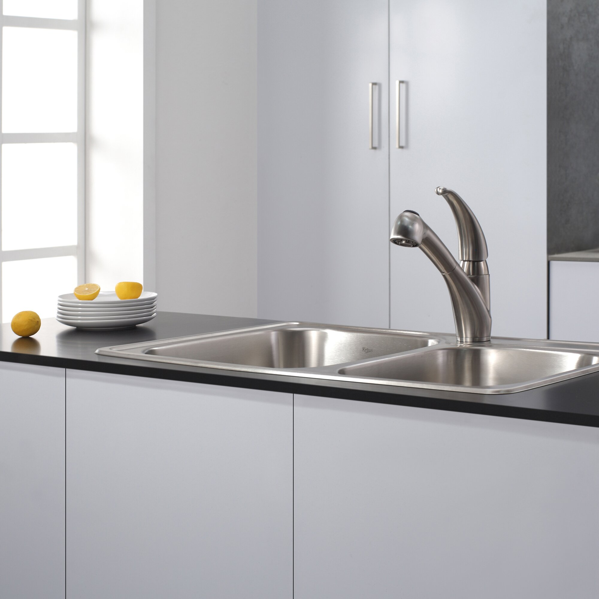 kraus single handle single hole kitchen faucet with pull kraus single handle single hole kitchen faucet with pull