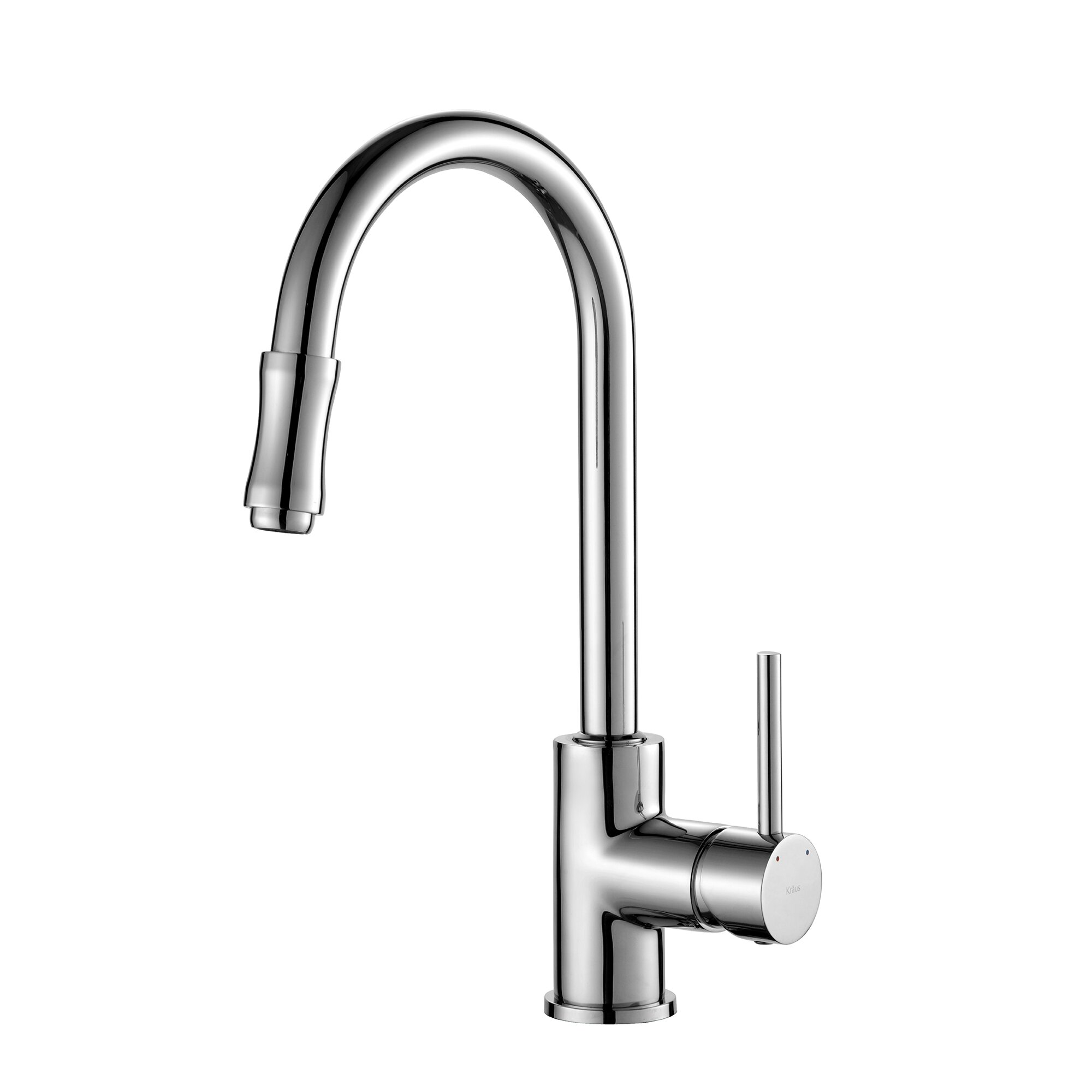Kraus Premium Faucet Single Handle Pull Down Kitchen Faucet with Dual ...
