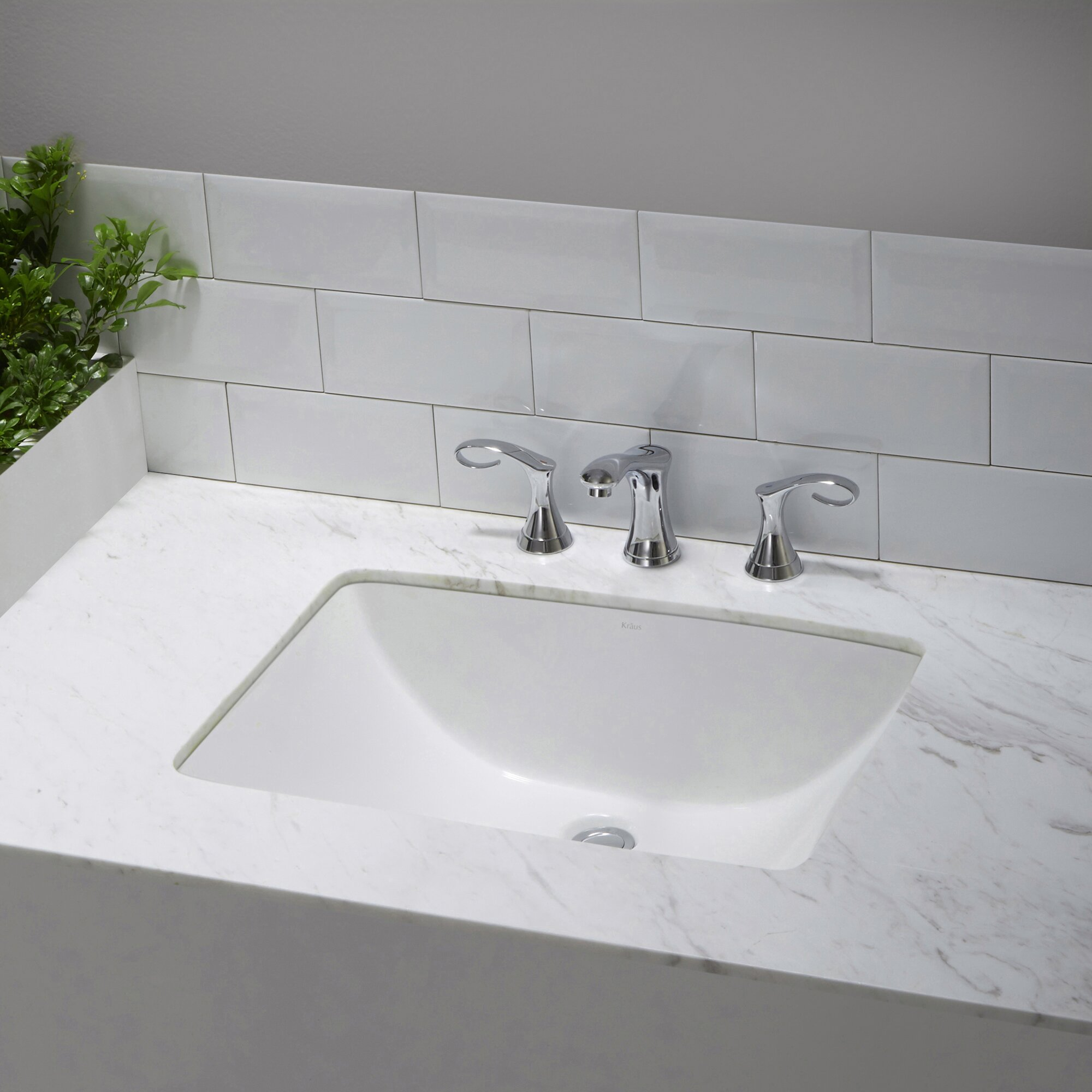 undermount sinks kitchen kraus elavo ceramic rectangular undermount bathroom sink 3031