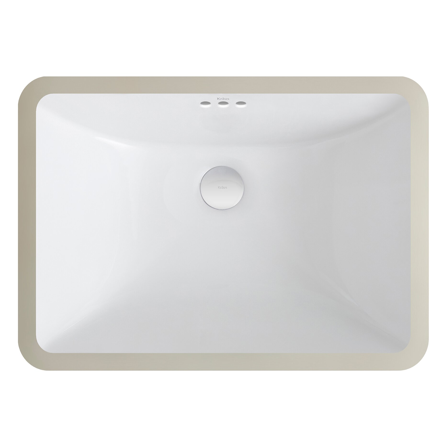 undermount sinks kitchen kraus elavo 23 26 quot x 16 25 quot ceramic rectangular undermount 3031