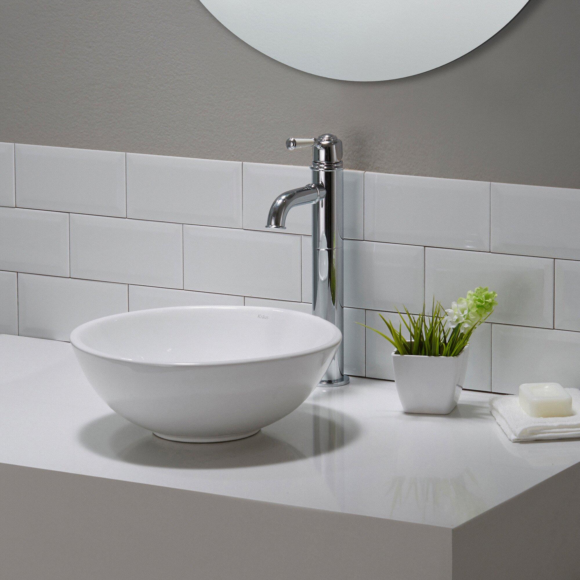 Kraus Bathroom Sinks : Home Improvement Bathroom Fixtures ... Vessel Bathroom Sinks Kraus ...