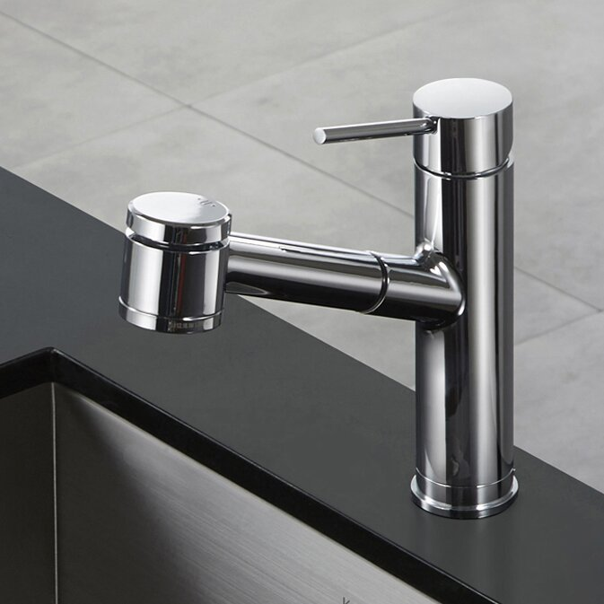kraus oletto single lever pull out kitchen faucet