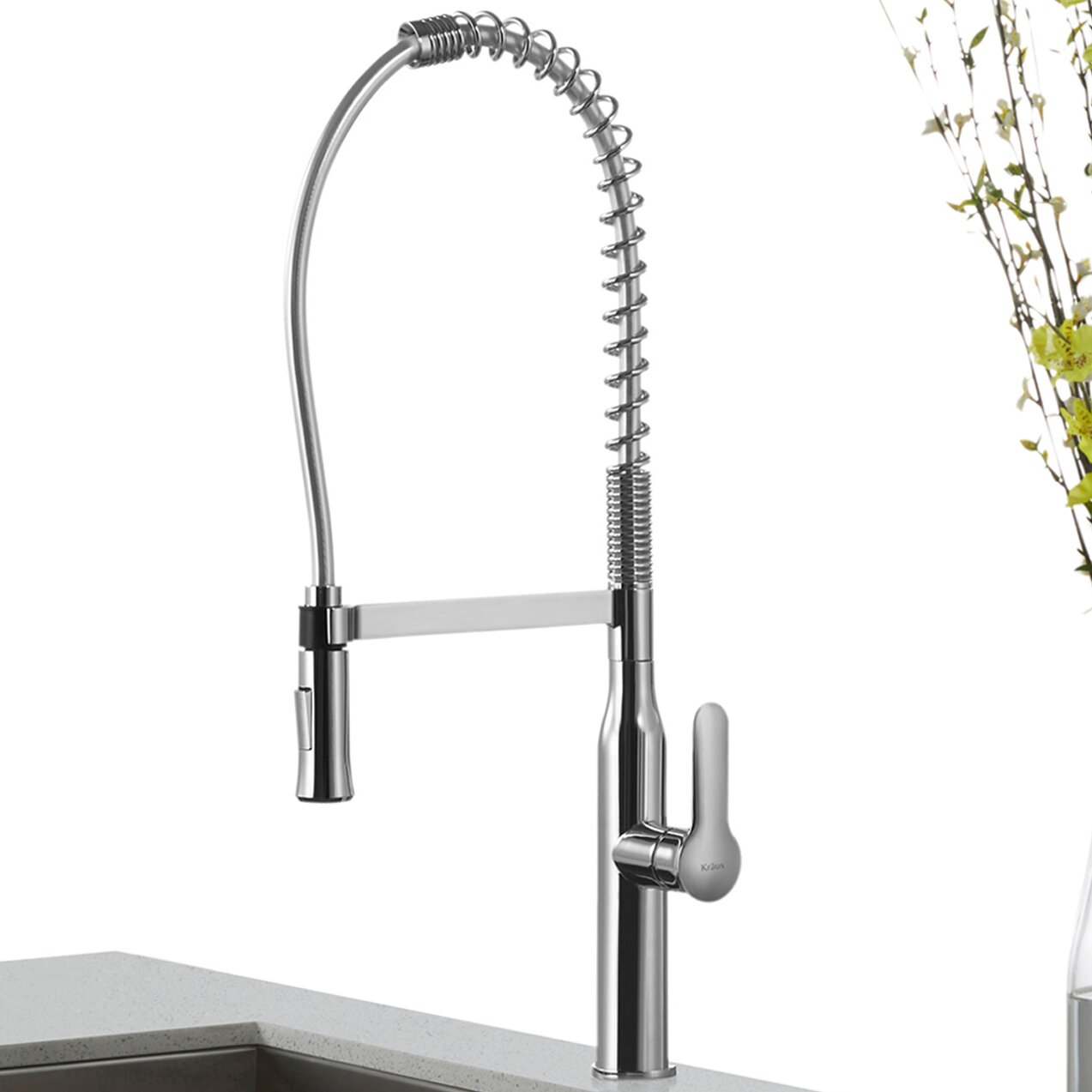 nola single lever commercial style kitchen faucet vigo commercial style chrome kitchen faucet remodelista