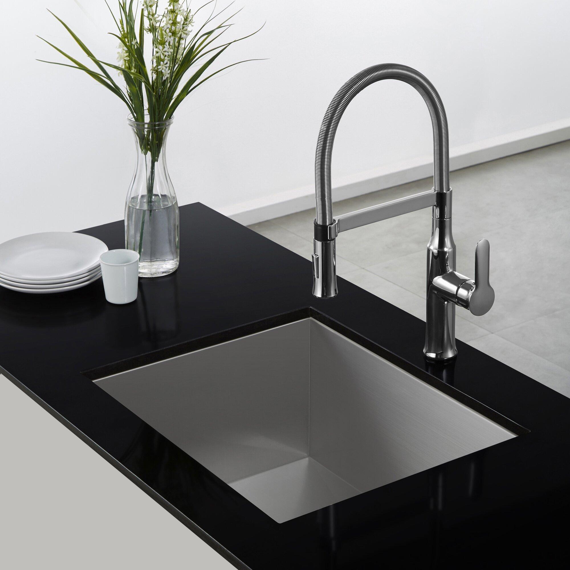 Kraus Faucets Reviews : Kraus Nola? Single Lever Flex Commercial Style Kitchen Faucet ...