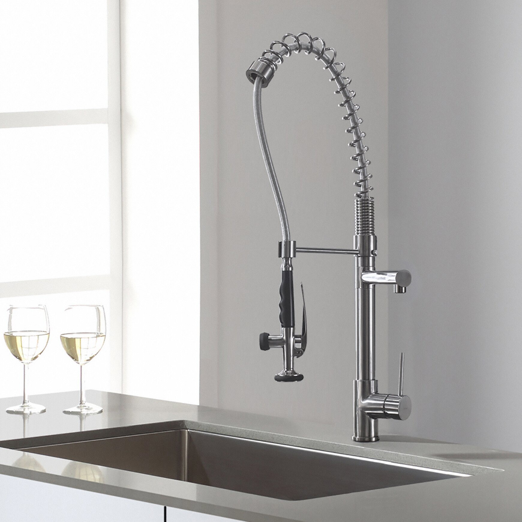 Most Reliable Kitchen Faucets Kraus Single Handle Pull Down Deck Mounted Kitchen Faucet