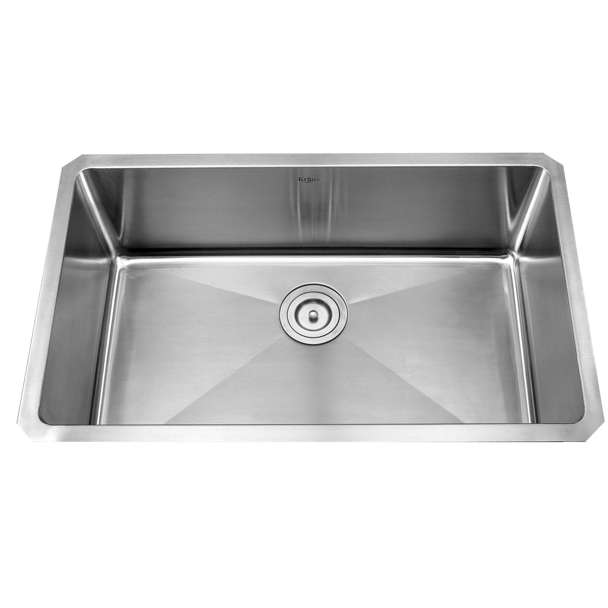White Kitchen Sink Undermount Kraus Stainless Steel 30 X 16 Undermount Kitchen Sink With