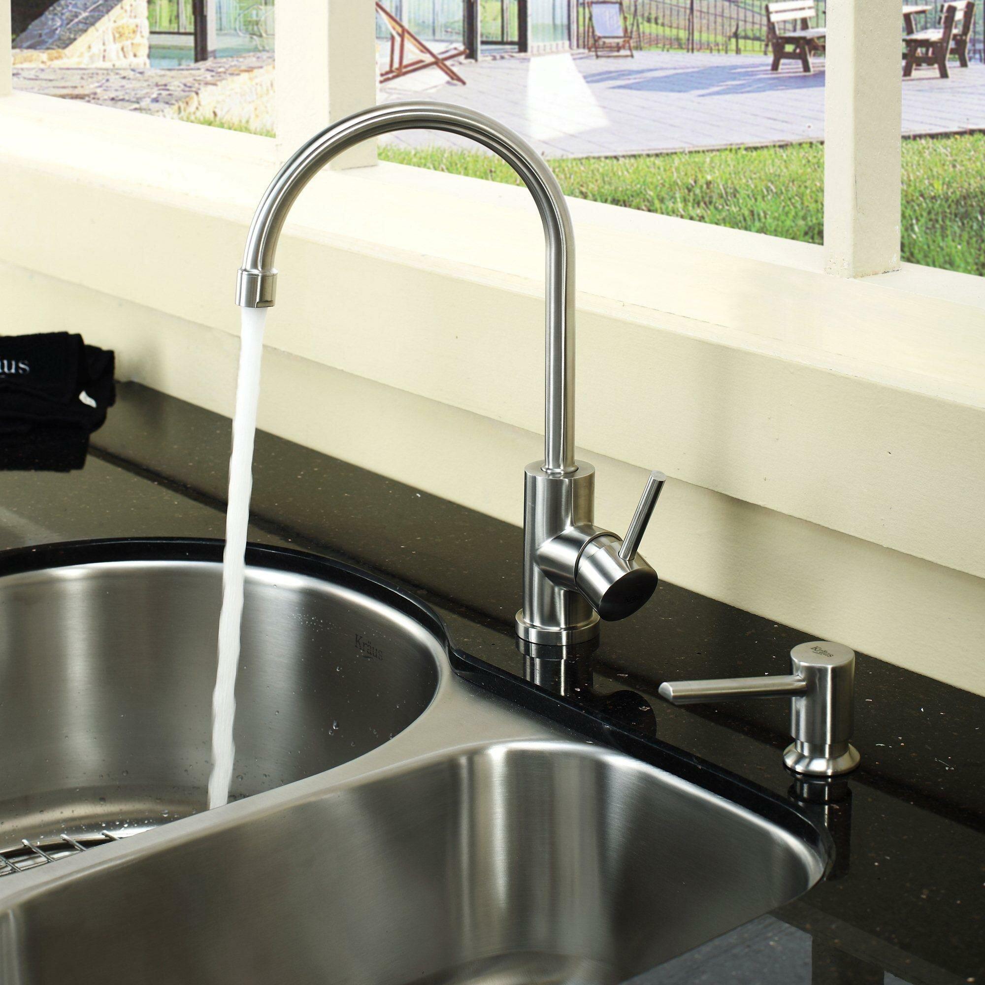 Kraus 30 x 19 5 8 piece undermount double bowl kitchen - Kitchen sink pieces ...