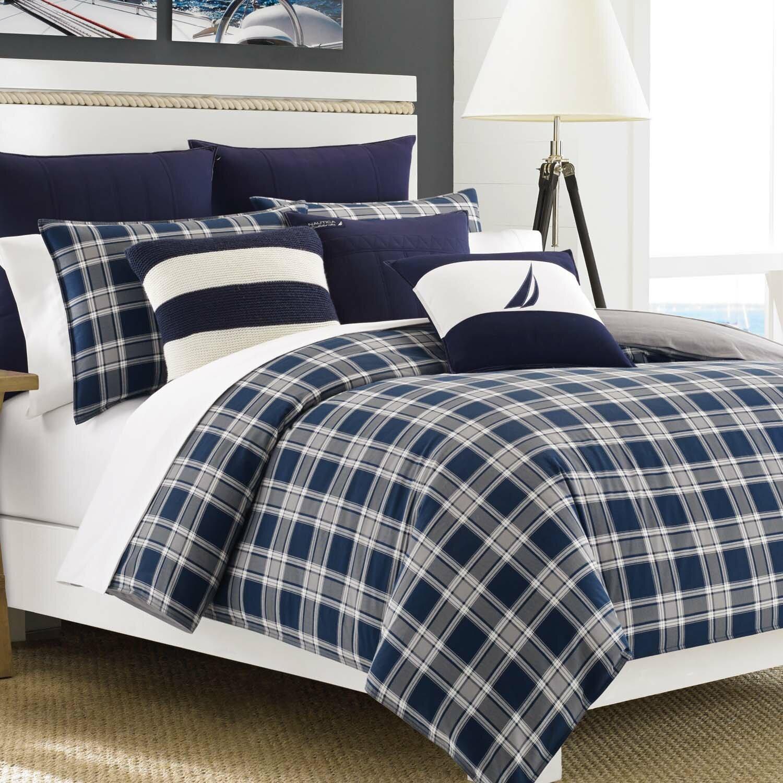 Nautica Bedroom Furniture Nautica Eddington Reversible Comforter Set Reviews Wayfair