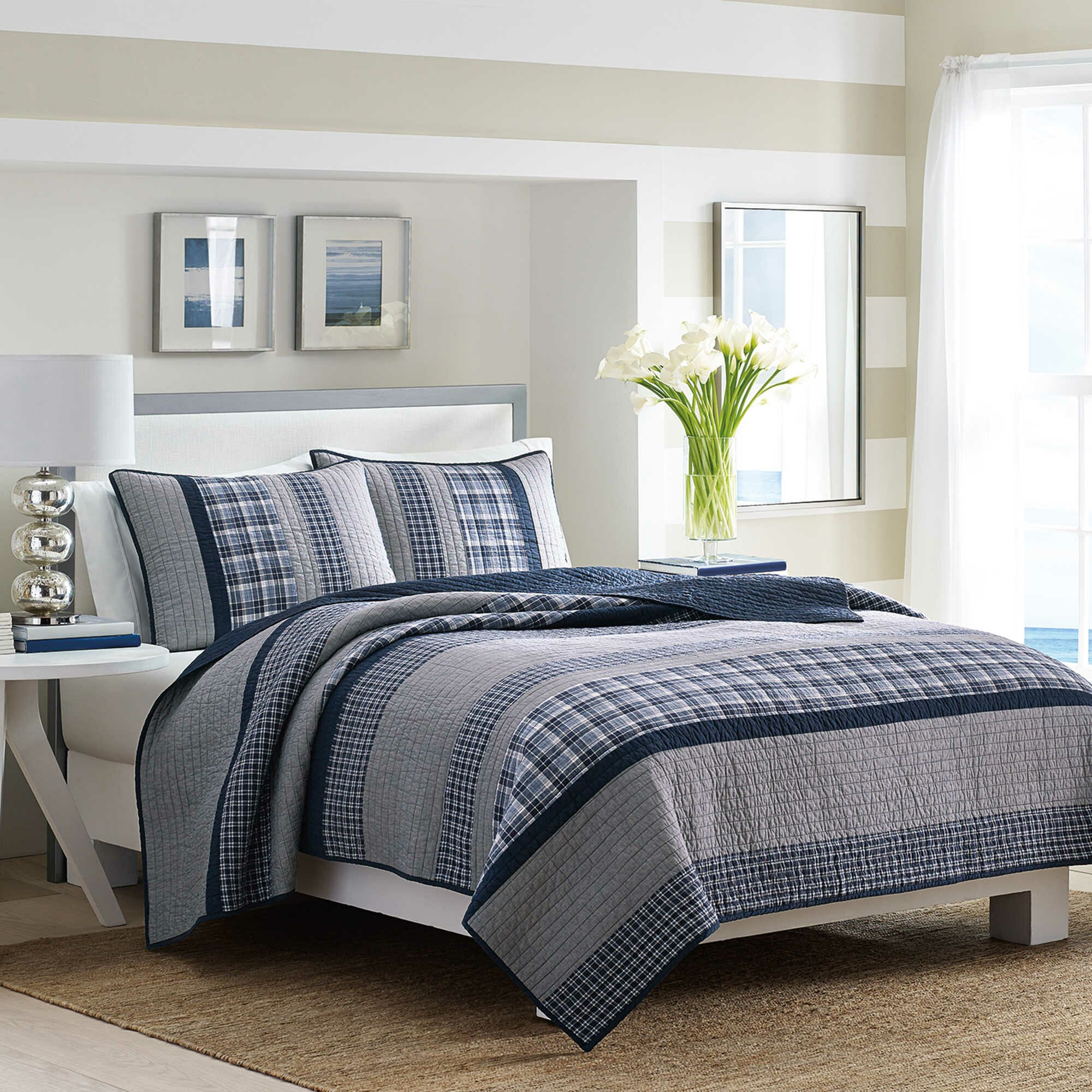 Nautica Bedroom Furniture Nautica Adleson Cotton Quilt Reviews Wayfair