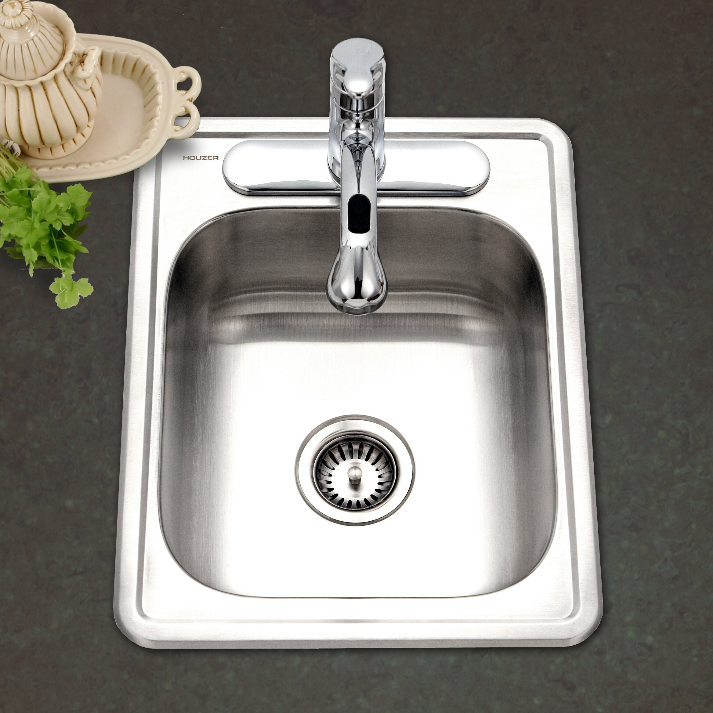 White apron sink ontario - Hospitality 22 X 17 Topmount 22 Gauge Large