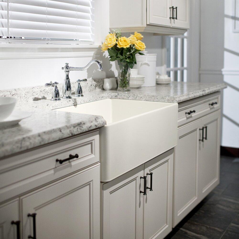 Apron Front Kitchen Sink White Houzer Platus 30 X 20 Apron Front Fire Clay Single Kitchen Sink