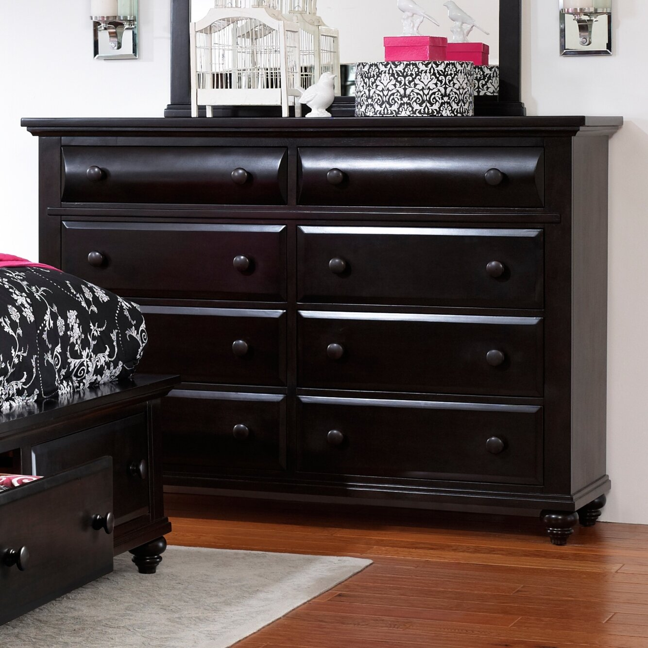 Broyhill Farnsworth 8 Drawer Dresser Reviews Wayfair. 8 Drawer Black Dresser   Trend Dressers Designs