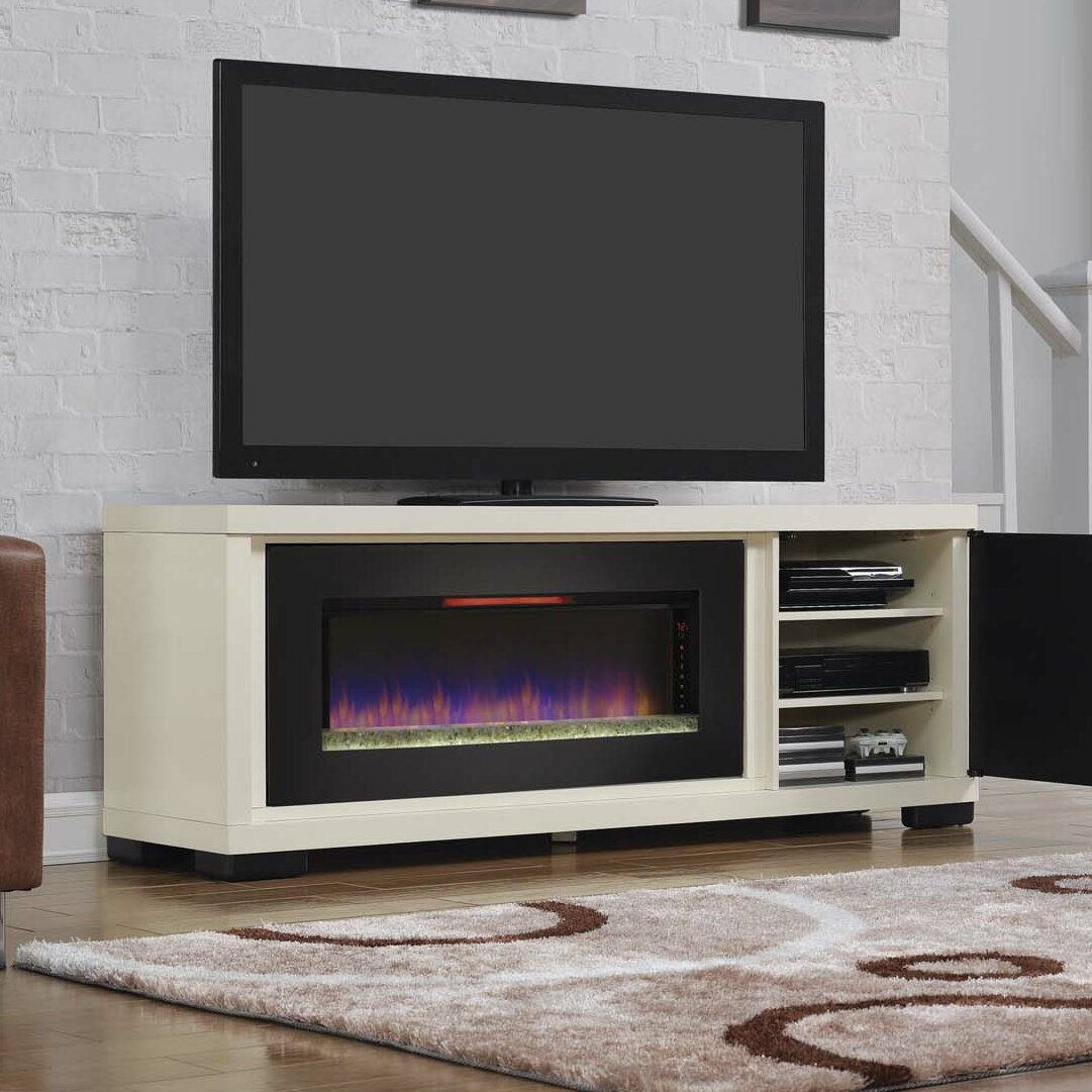 Montgomery 26in electric fireplace and tv stand cherry 26mm2490 c233 - Classic Flame Brickell Electric Fireplace Reviews Wayfair