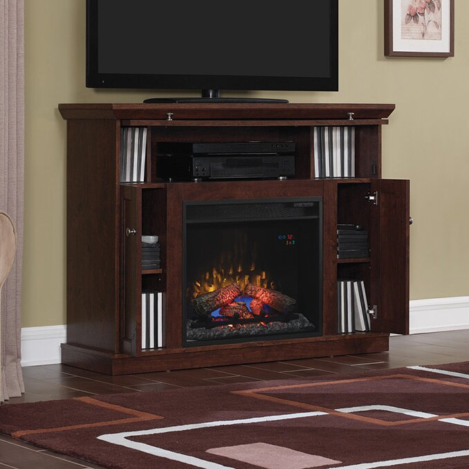 Classic Flame Windsor TV Stand with Electric Fireplace - Classic Flame Windsor TV Stand With Electric Fireplace & Reviews