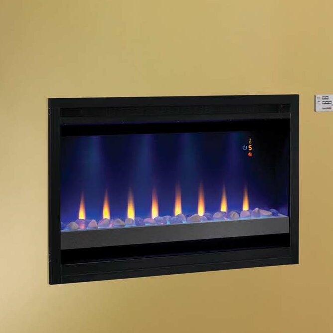 Classic Flame Builder Box Contemporary Wall Mount Electric Fireplace Insert - Classic Flame Builder Box Contemporary Wall Mount Electric