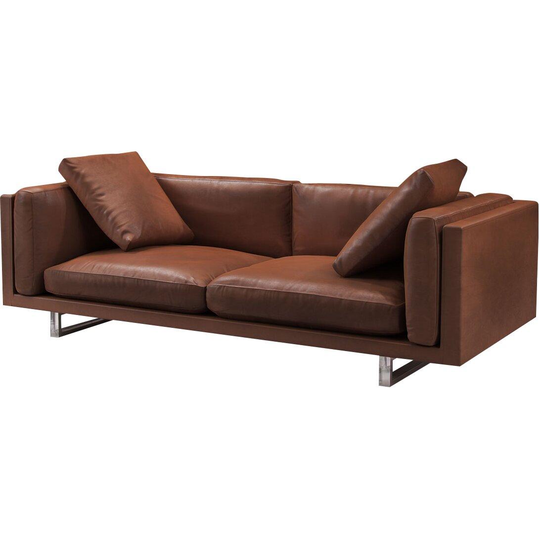 Fulton Top Grain Leather Sofa Amp Reviews Allmodern