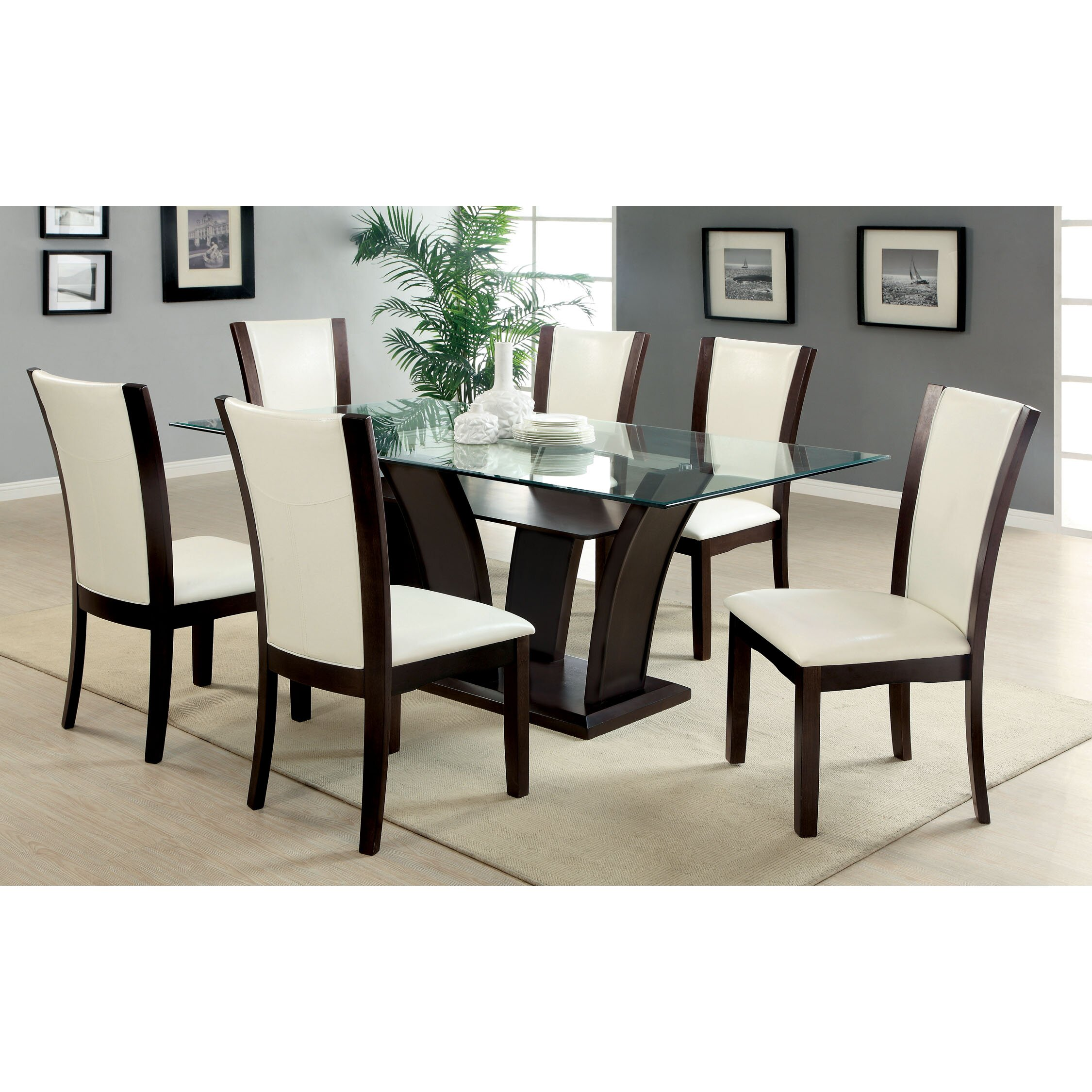 Hokku designs carmilla 7 piece dining set reviews wayfair for Furniture 7 reviews