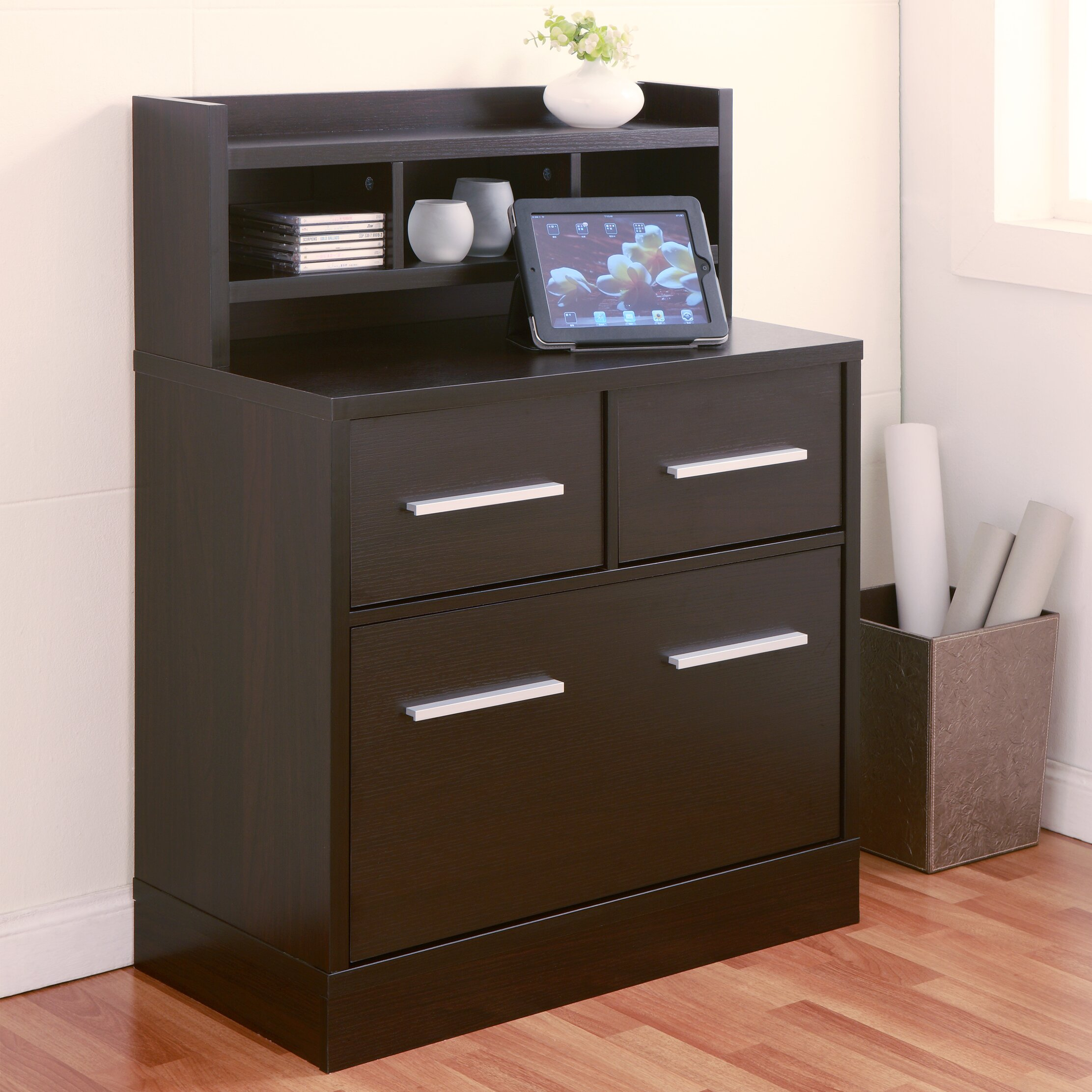 File Cabinet Hokku Designs 3 Drawer File Cabinet Workstation Reviews Wayfair