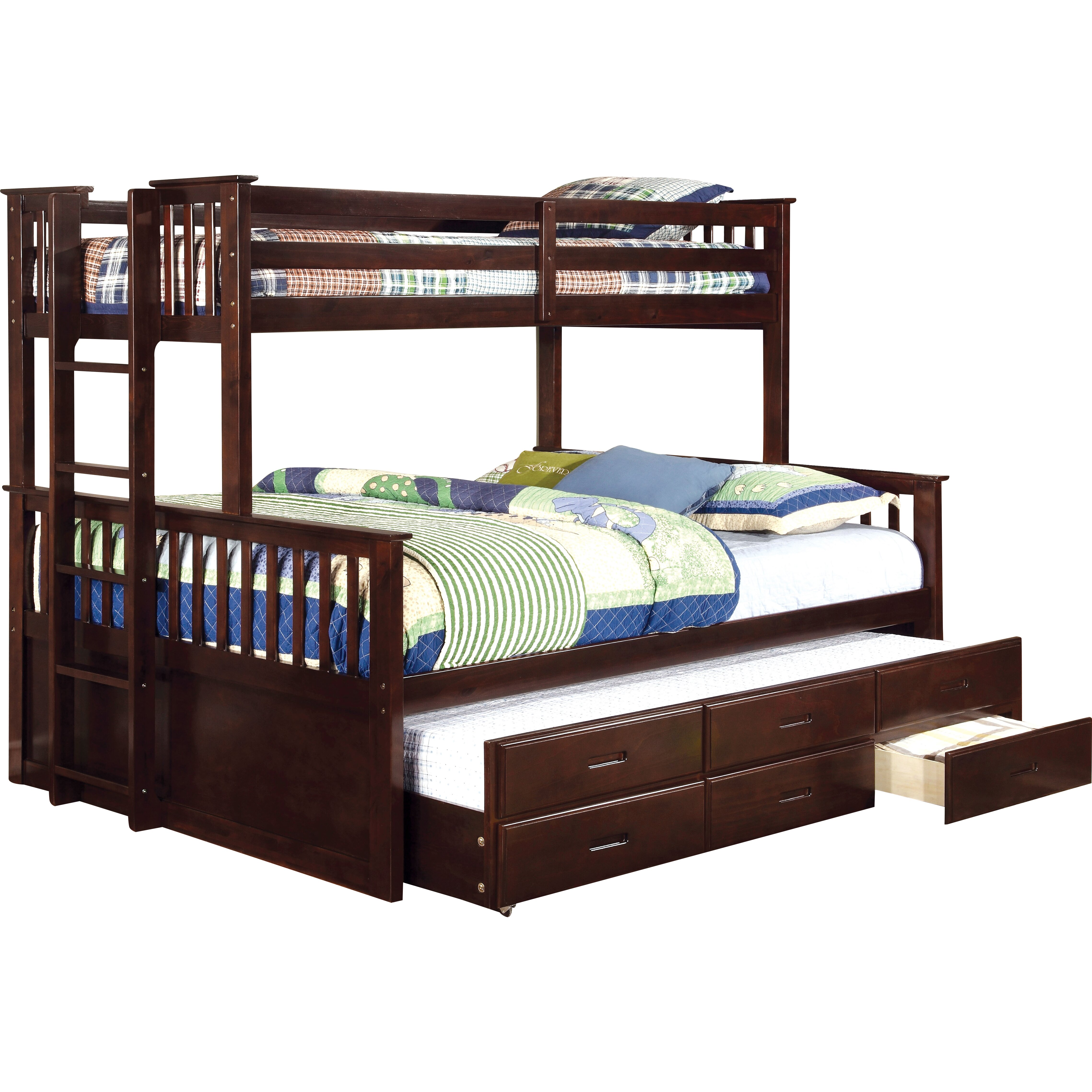 hokku designs emmerson twin over queen bunk bed