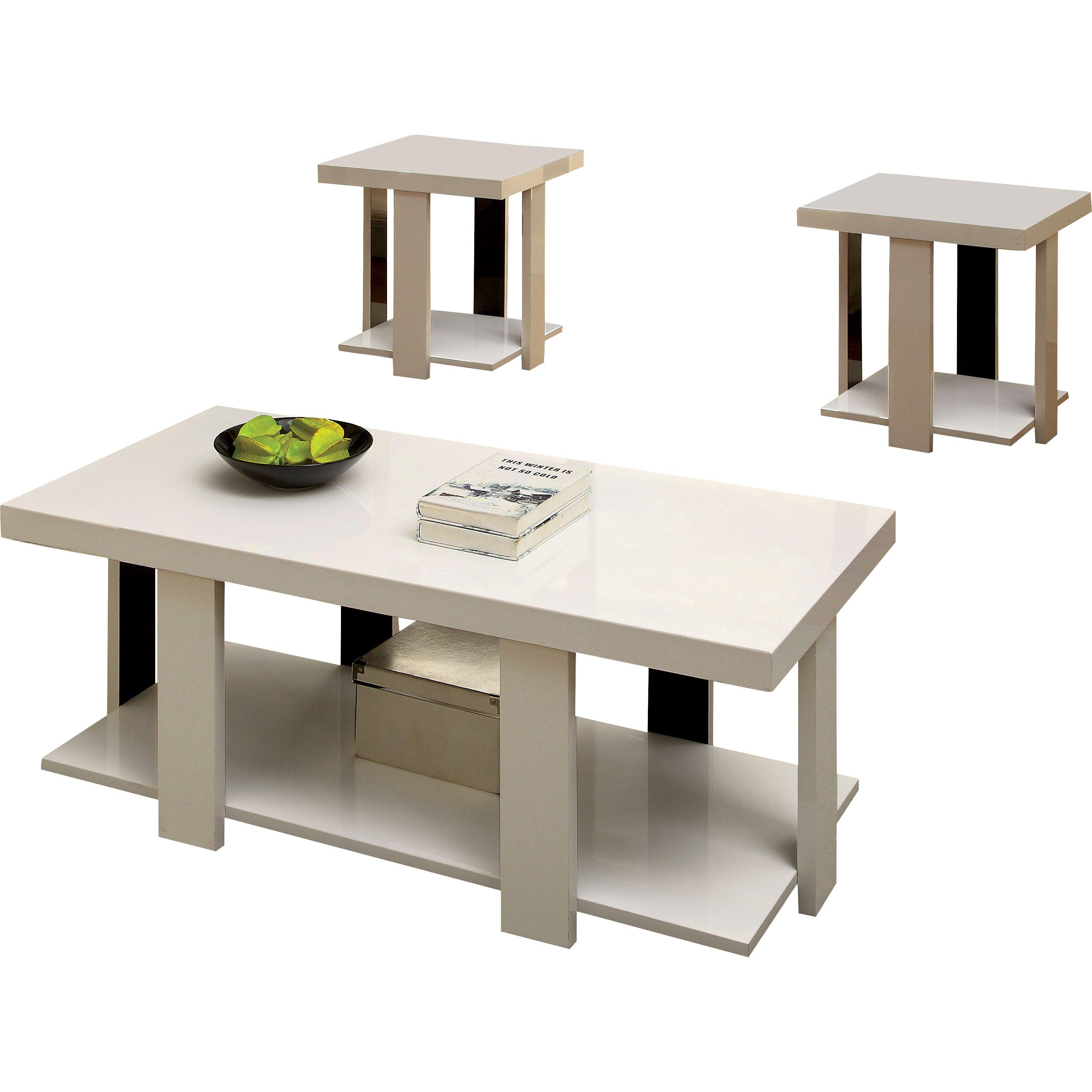 hokku designs eran 3 piece coffee table set reviews. Black Bedroom Furniture Sets. Home Design Ideas