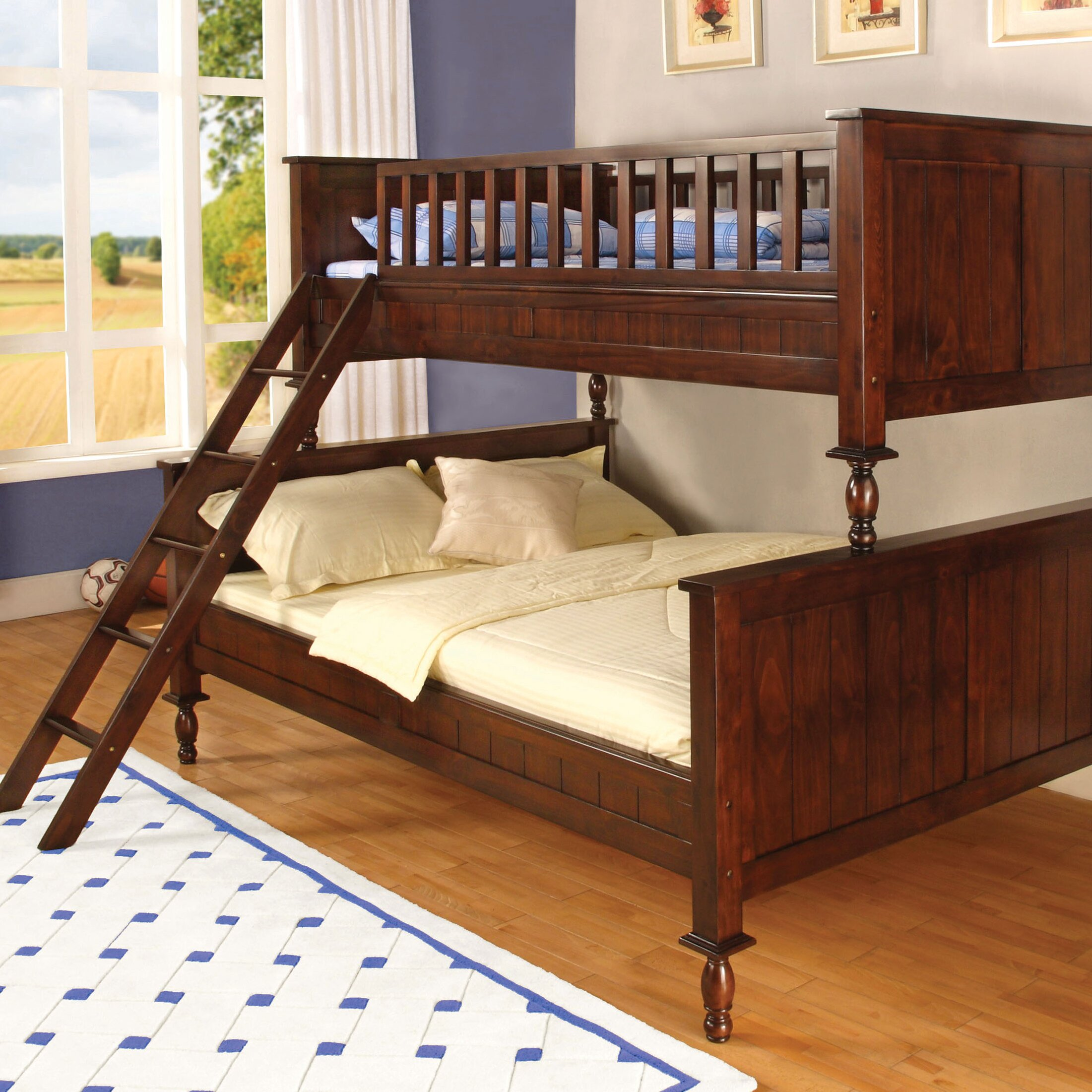 Bunk bed with couch on bottom - Milton Twin Over Full Futon Bunk Bed