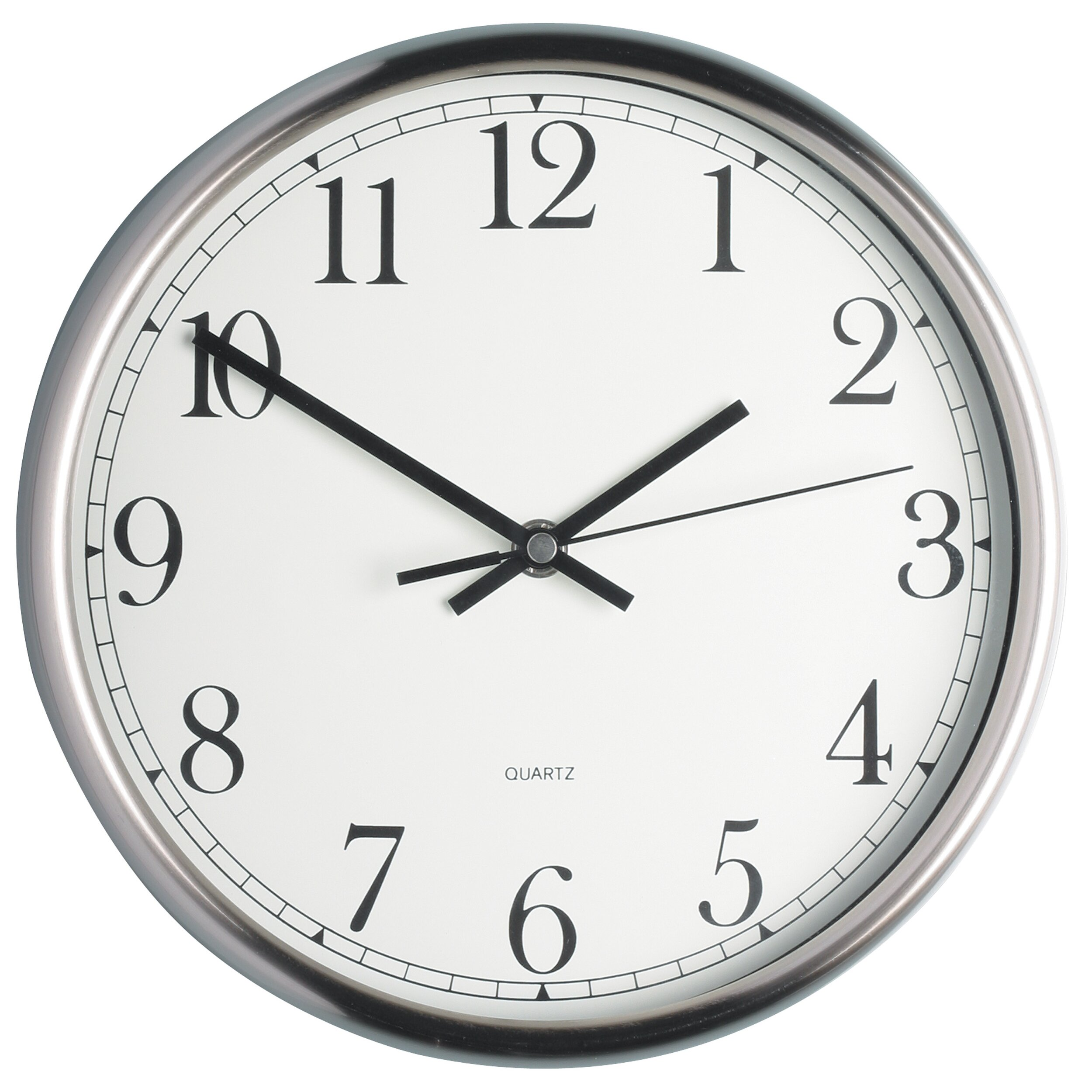 kitchen craft 25cm stainless steel wall clock reviews. Black Bedroom Furniture Sets. Home Design Ideas