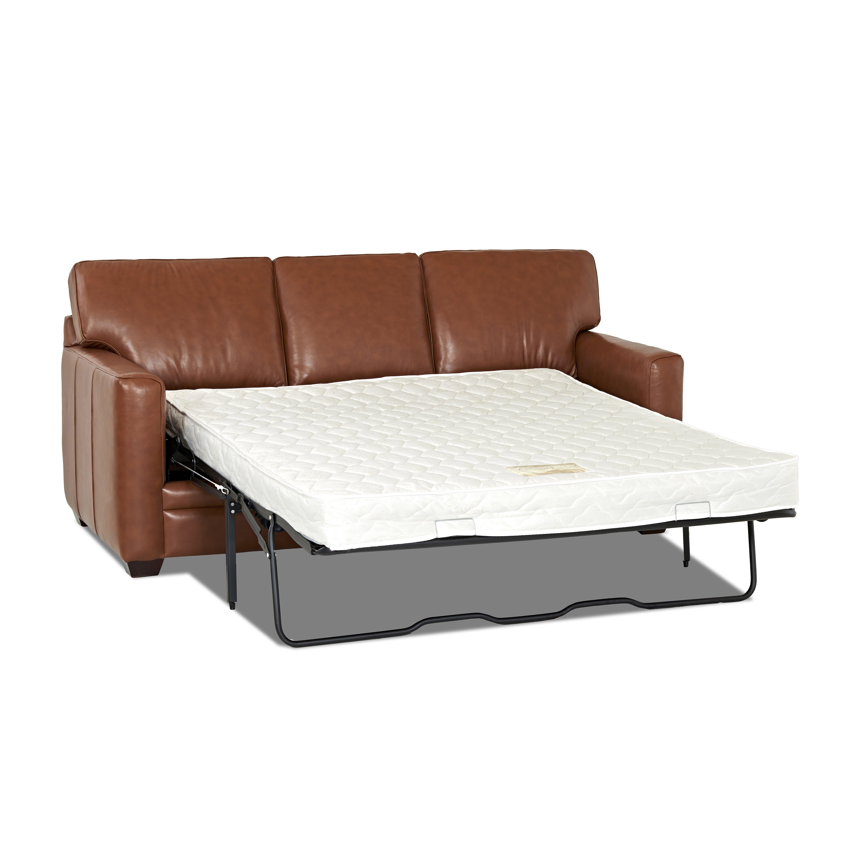 Wayfair Custom Upholstery Carleton Leather Sleeper Sofa