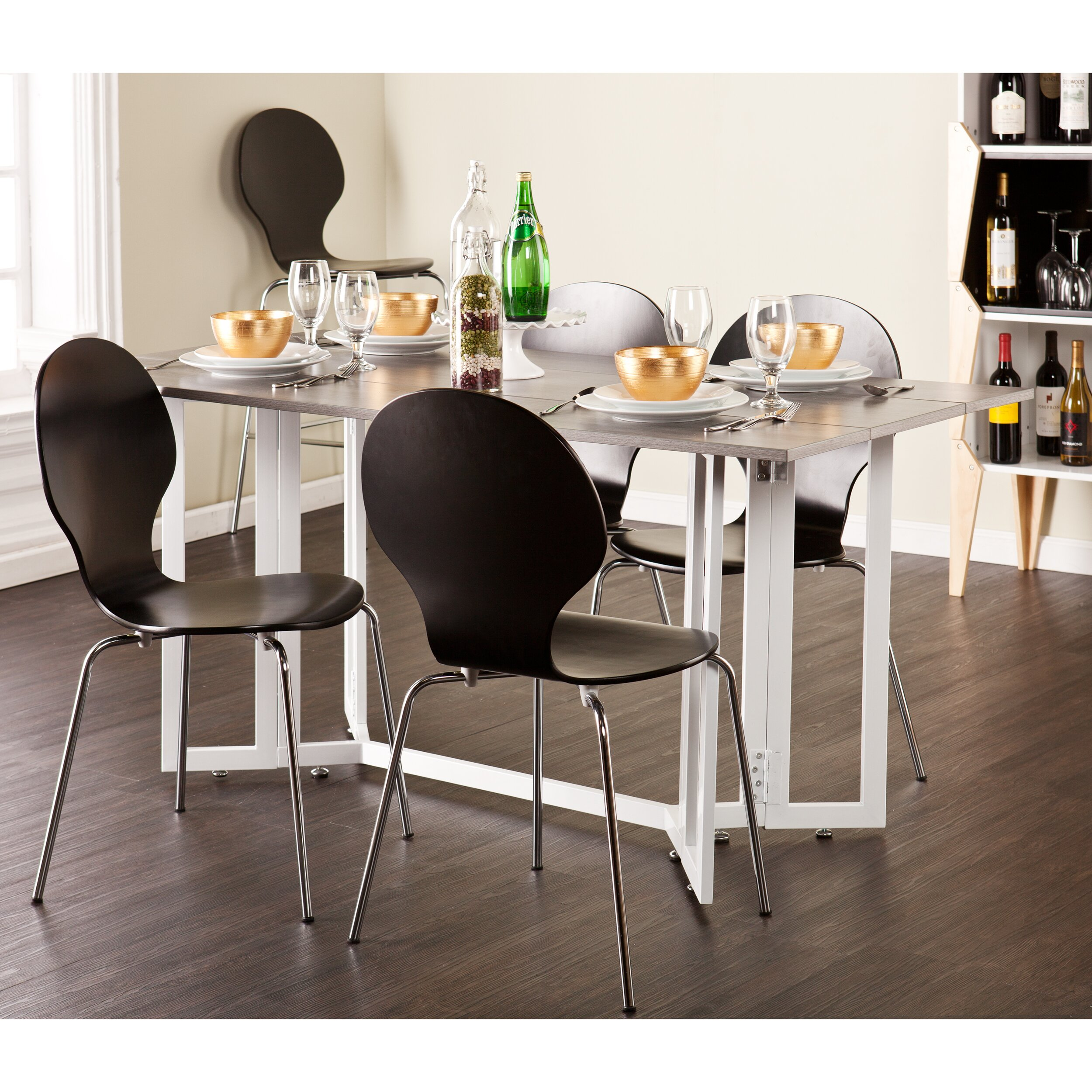 driness extendable dining table u0026 reviews allmodern